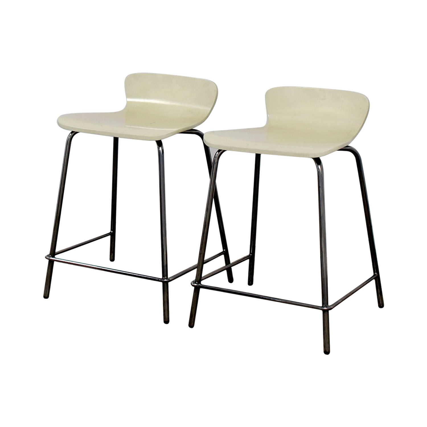 Crate & Barrel Crate & Barrel Felix White Counter Stools second hand