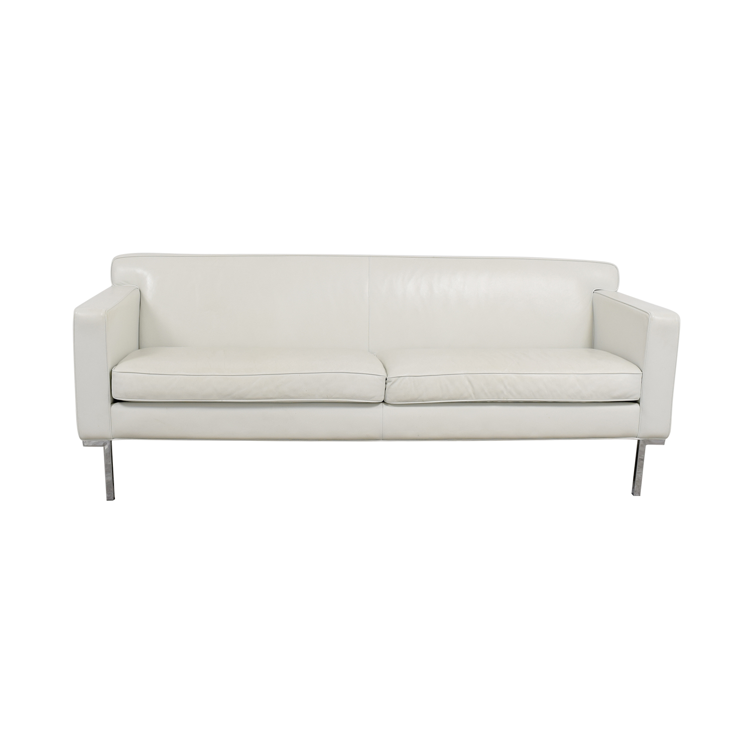 Design Within Reach Design Within Reach White Leather Couch for sale