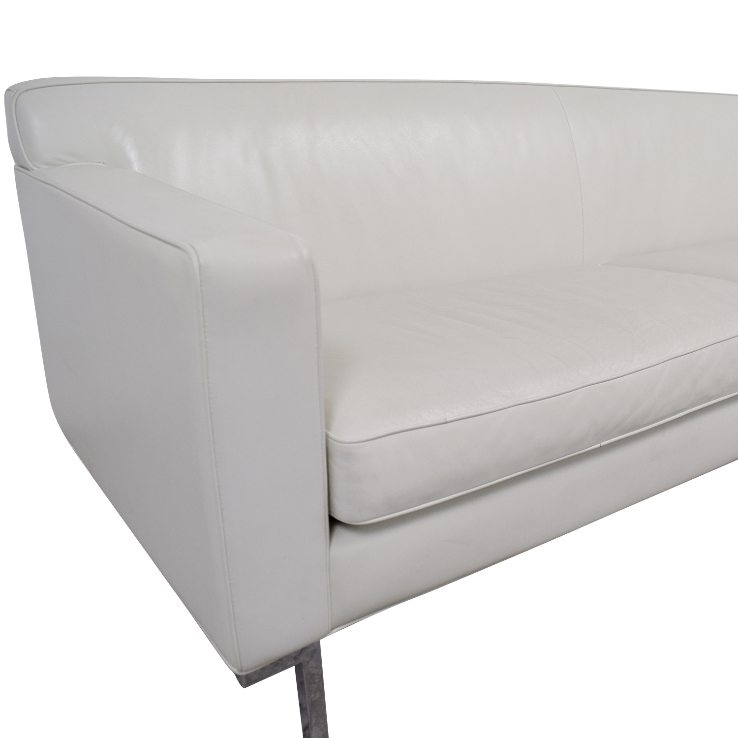 Design Within Reach Design Within Reach White Leather Couch coupon