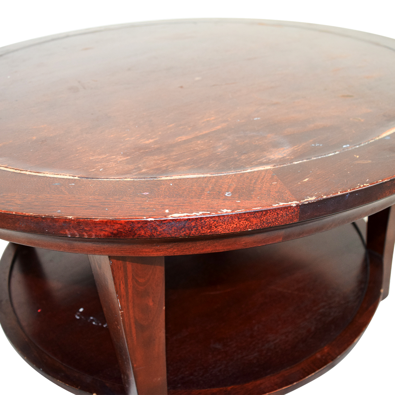 Wooden Round Coffee Table nj