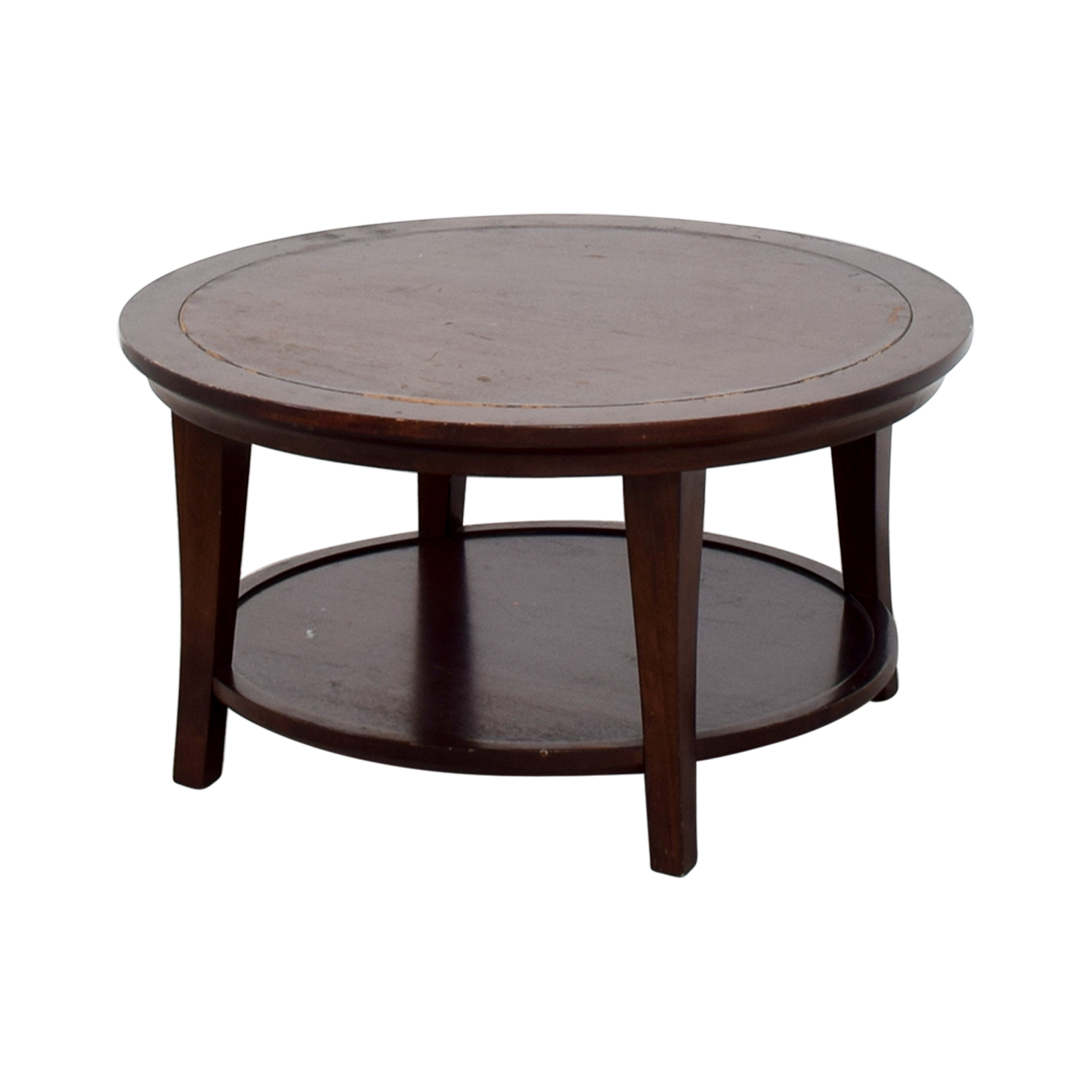 Wooden Round Coffee Table cherry wood