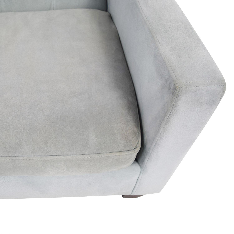 buy Max Studio Blue Tufted Velvet Armchair Max Studio