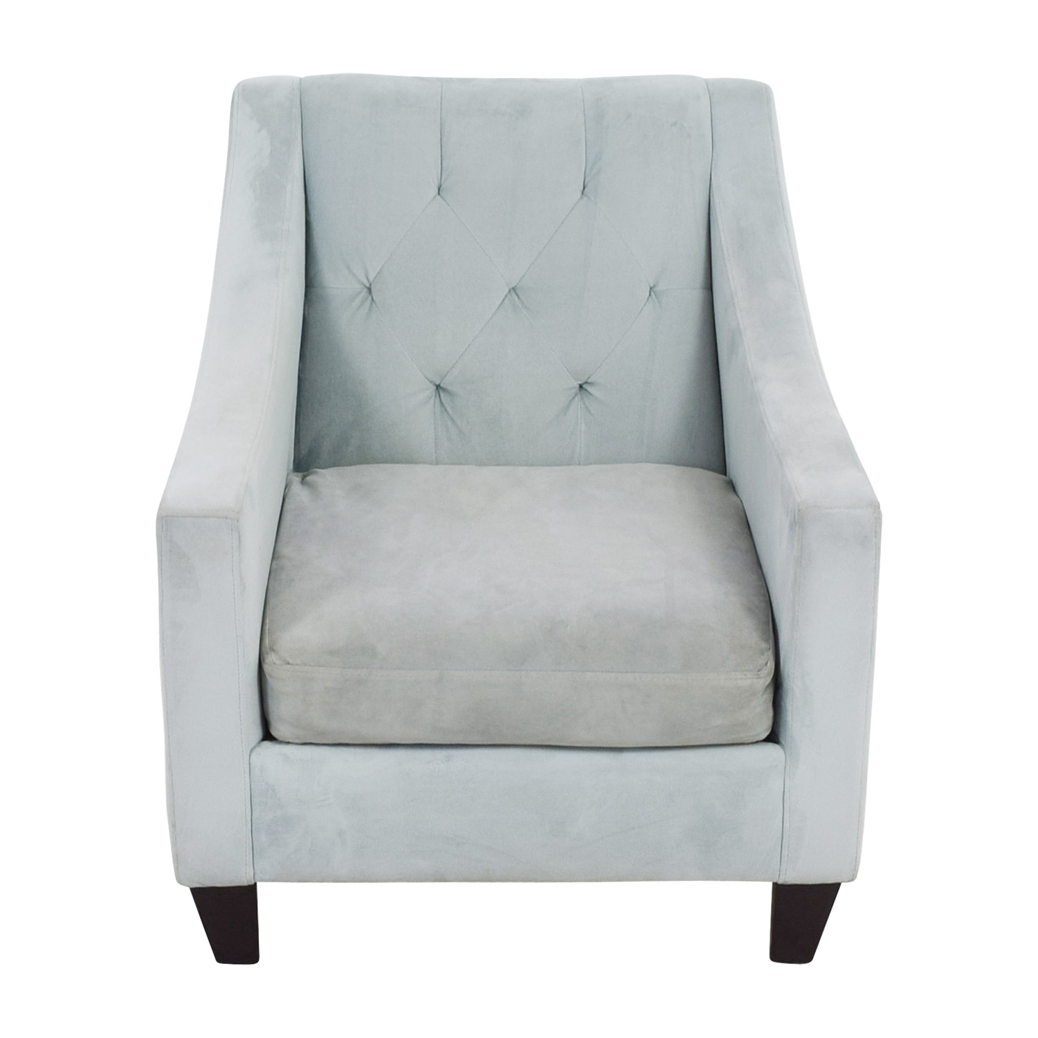 Max Studio Blue Tufted Velvet Armchair / Sofas
