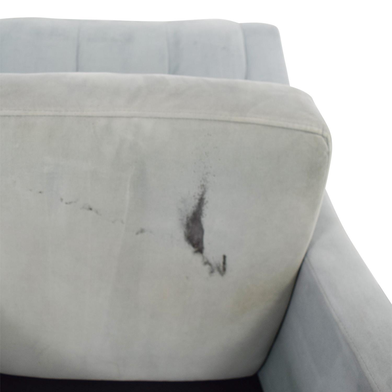 shop Max Studio Blue Tufted Velvet Armchair Max Studio Chairs