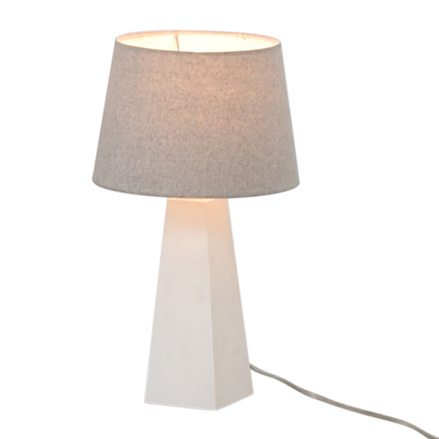 Target Target White Base with Silver Shade Lamp second hand