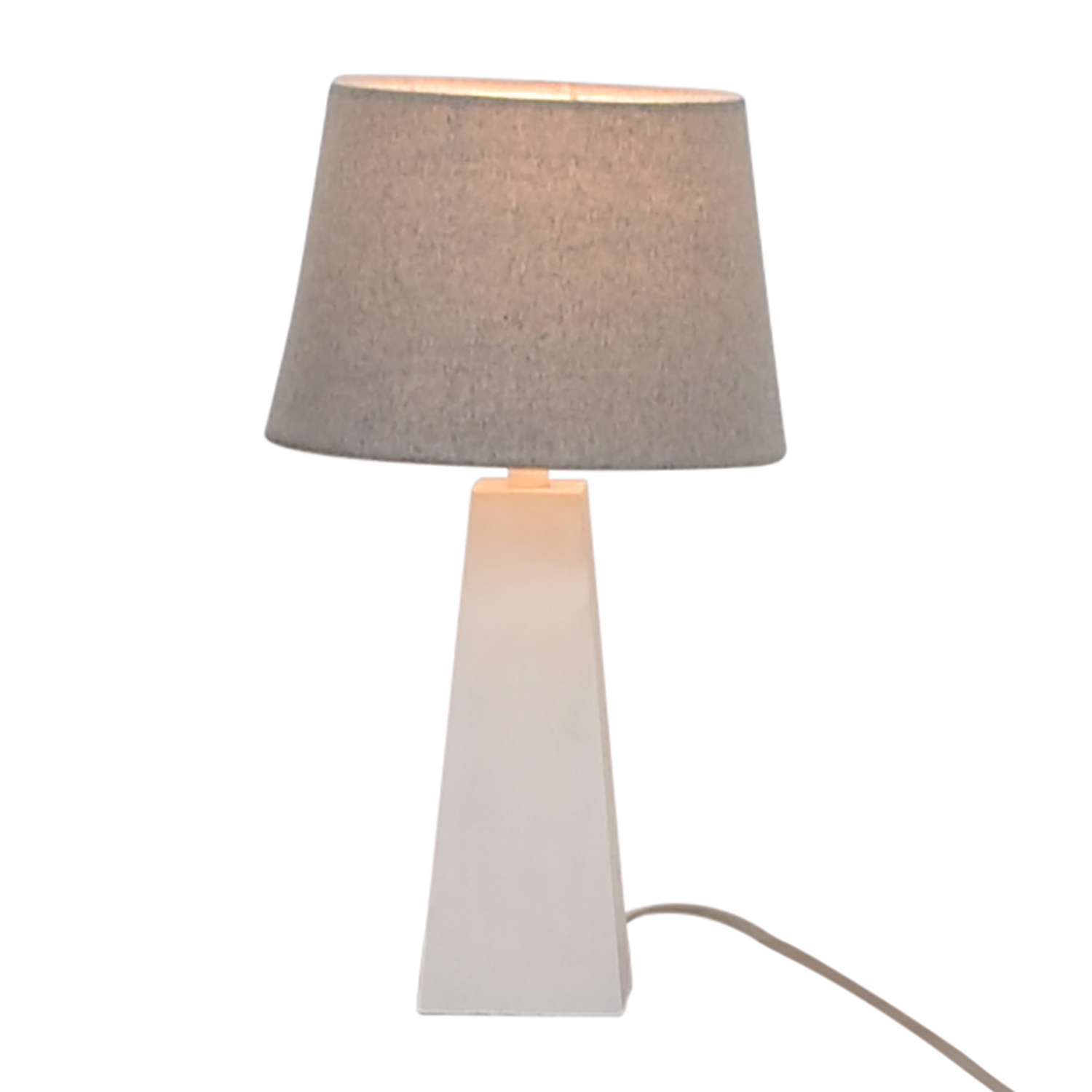 Target White Base with Silver Shade Lamp sale