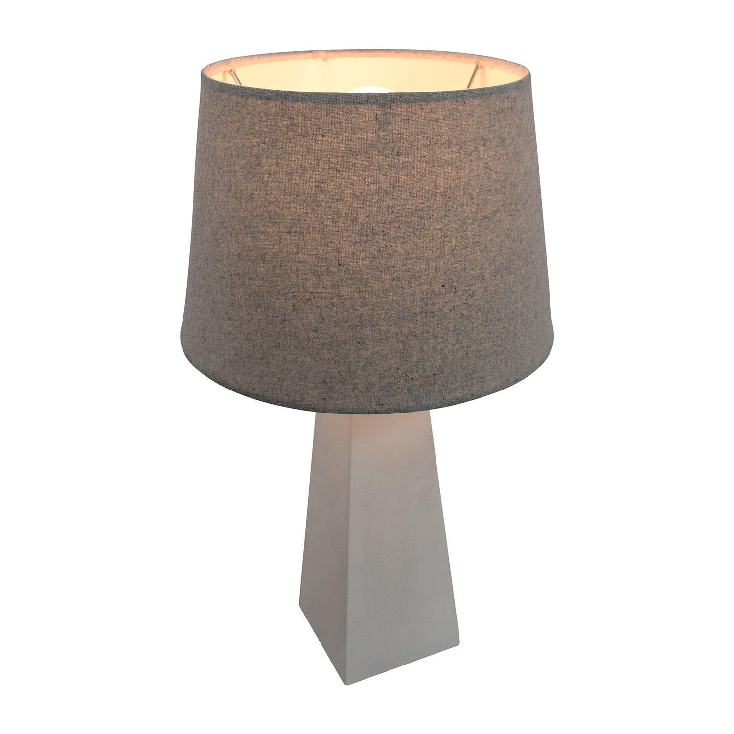 Target White Base with Silver Shade Lamp / Decor