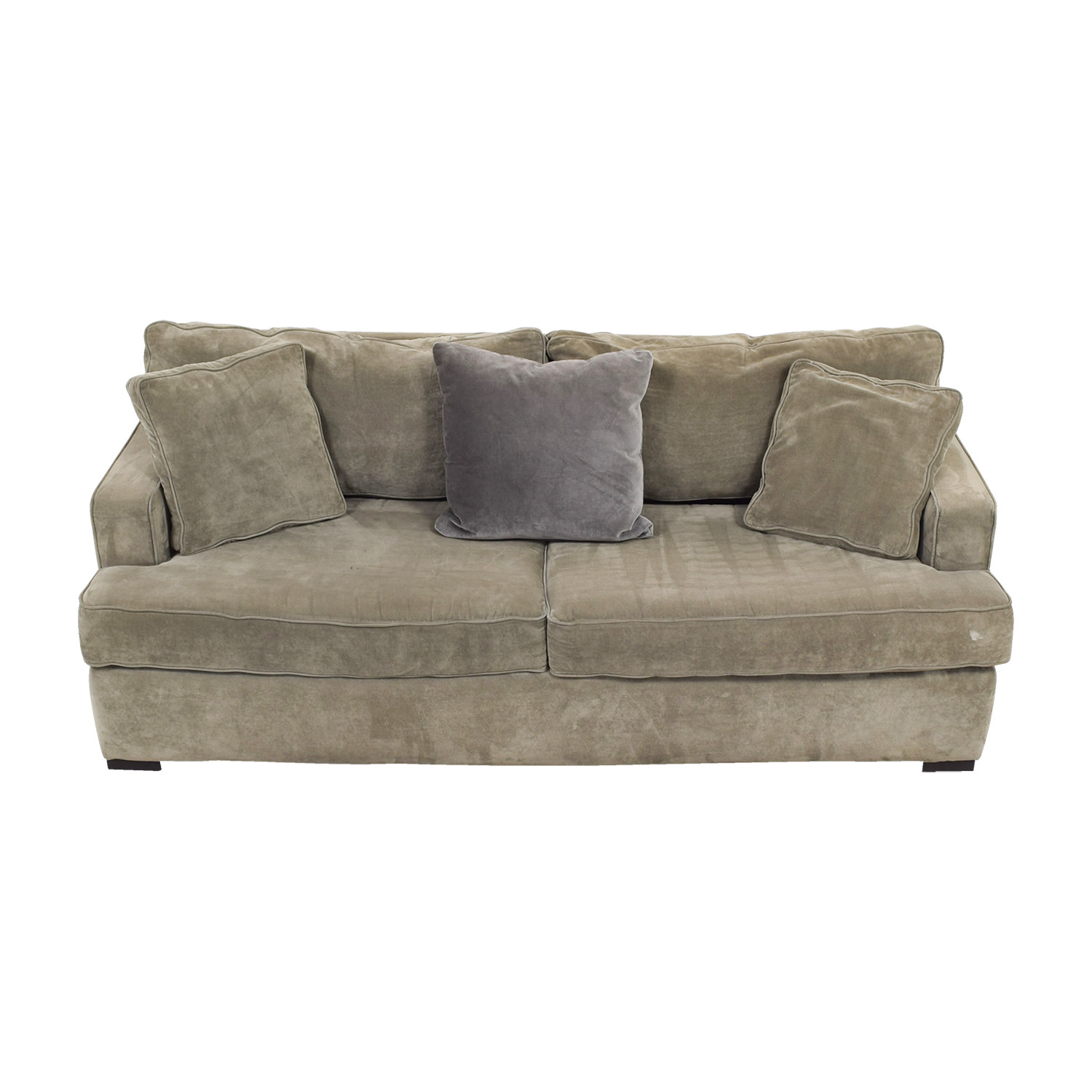 shop ABC Carpet & Home Velvet Grey Sofa ABC Carpet & Home Classic Sofas