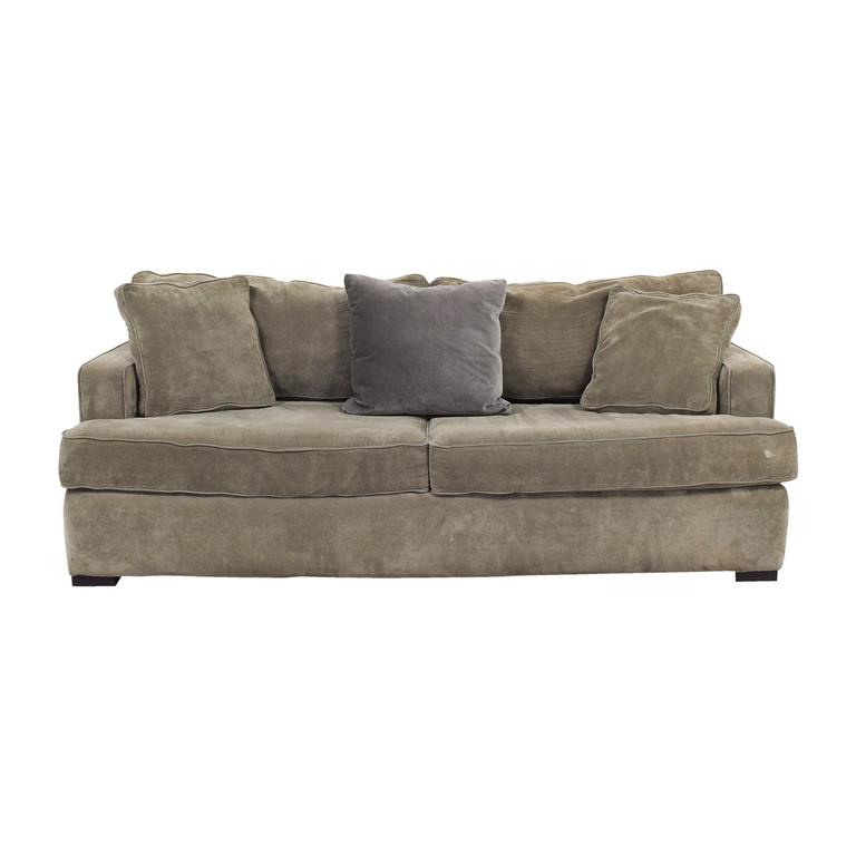 buy ABC Carpet & Home ABC Carpet & Home Velvet Grey Sofa online