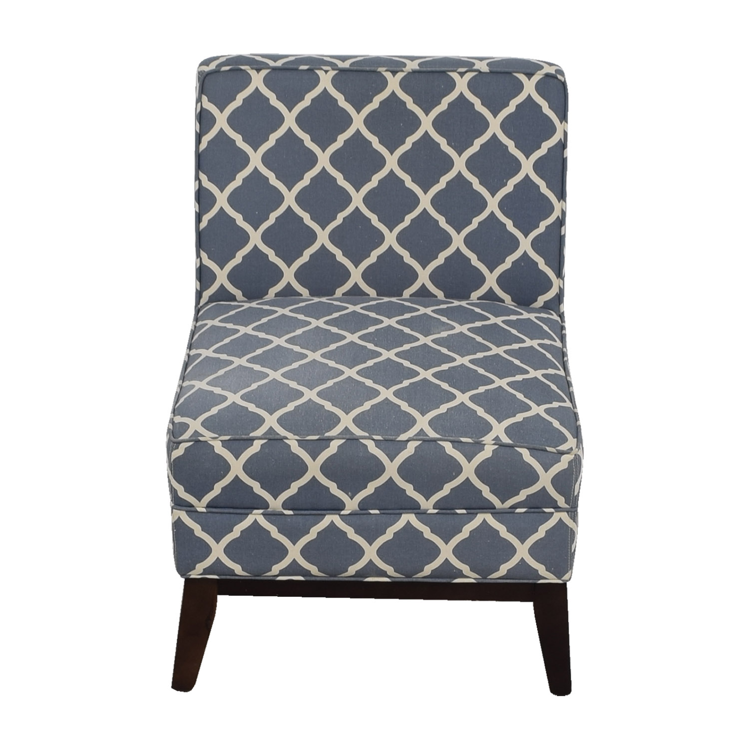 Joss and Main Joss and Main Blue and White Accent Chair nyc