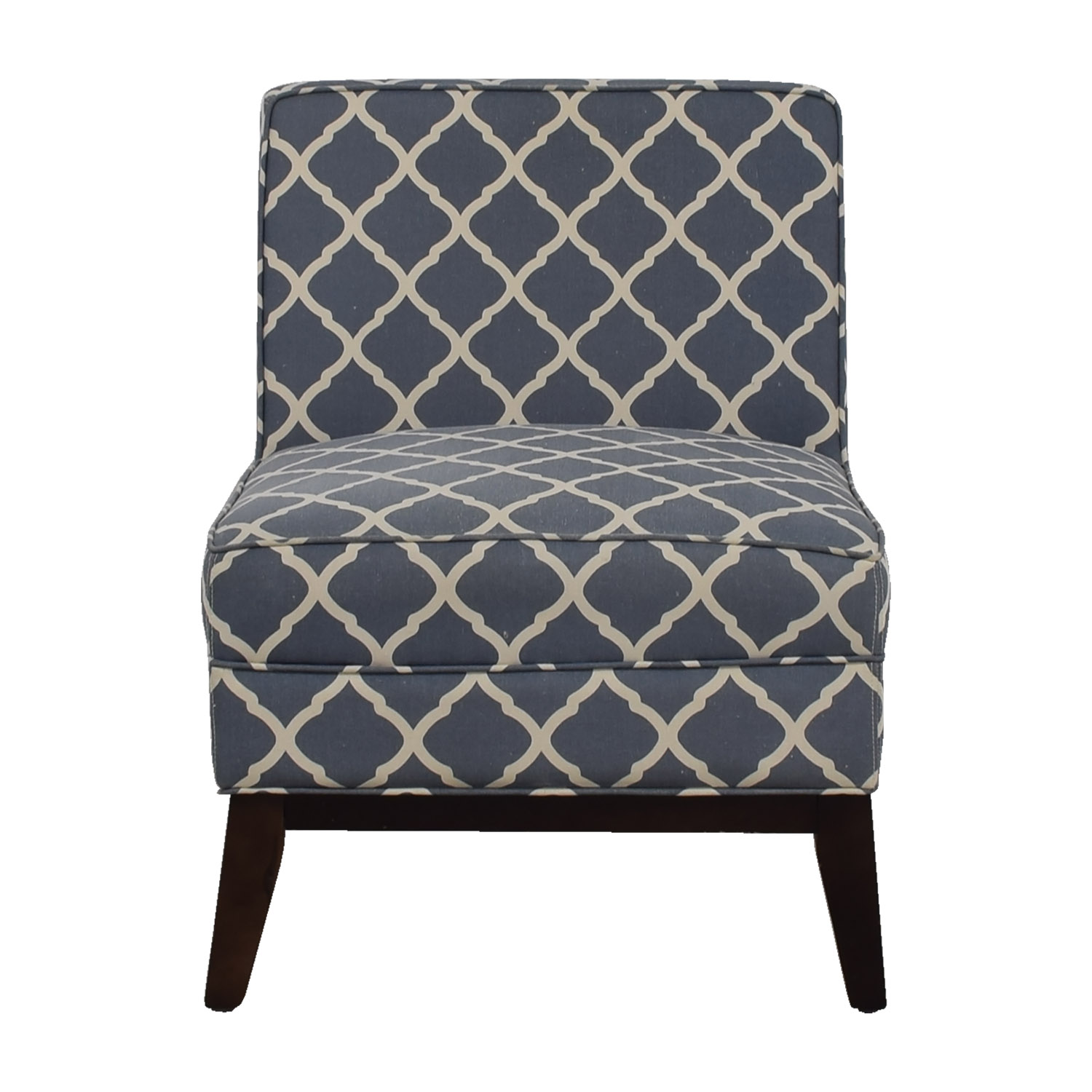Joss and Main Joss and Main Blue and White Accent Chair coupon