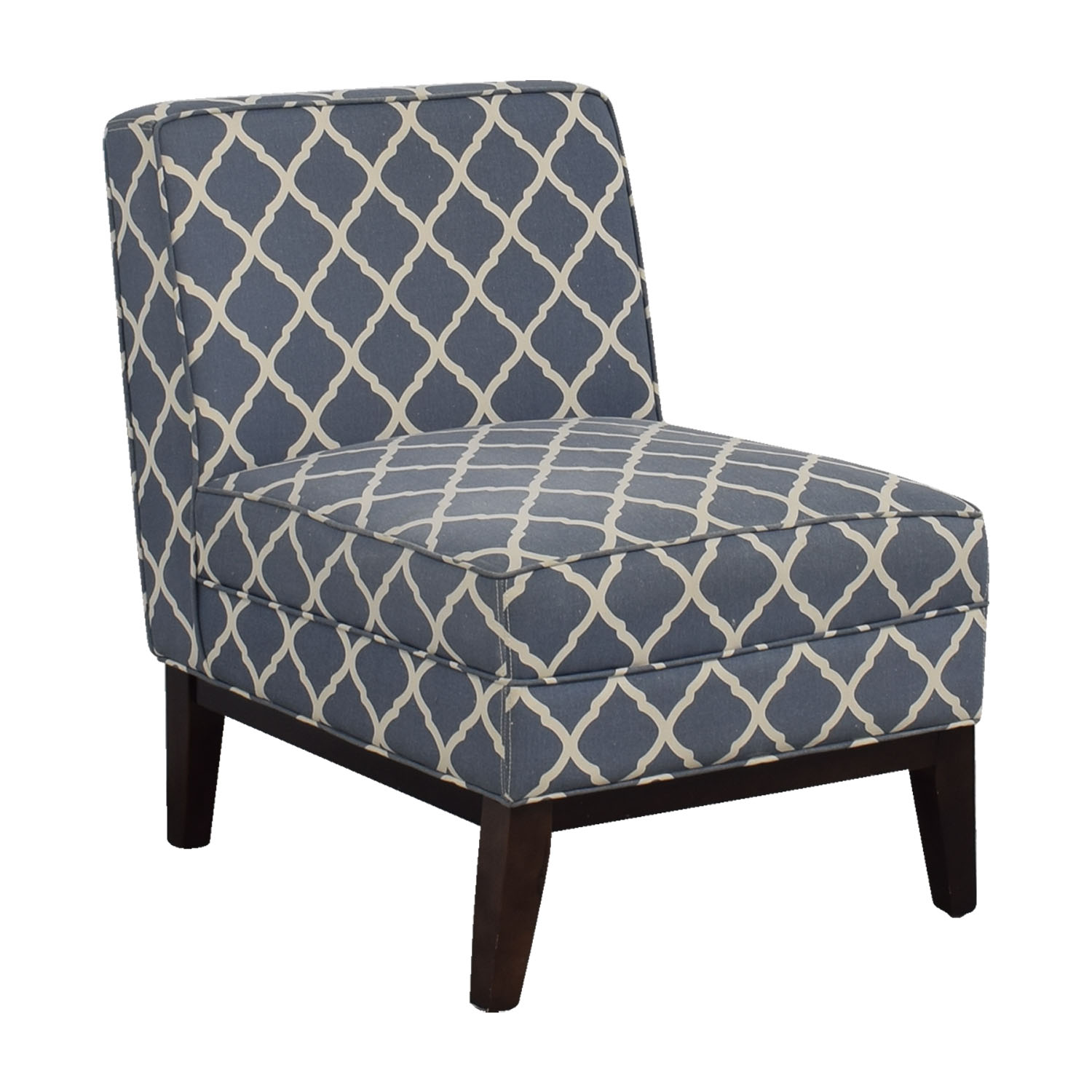 Joss and Main Joss and Main Blue and White Accent Chair second hand