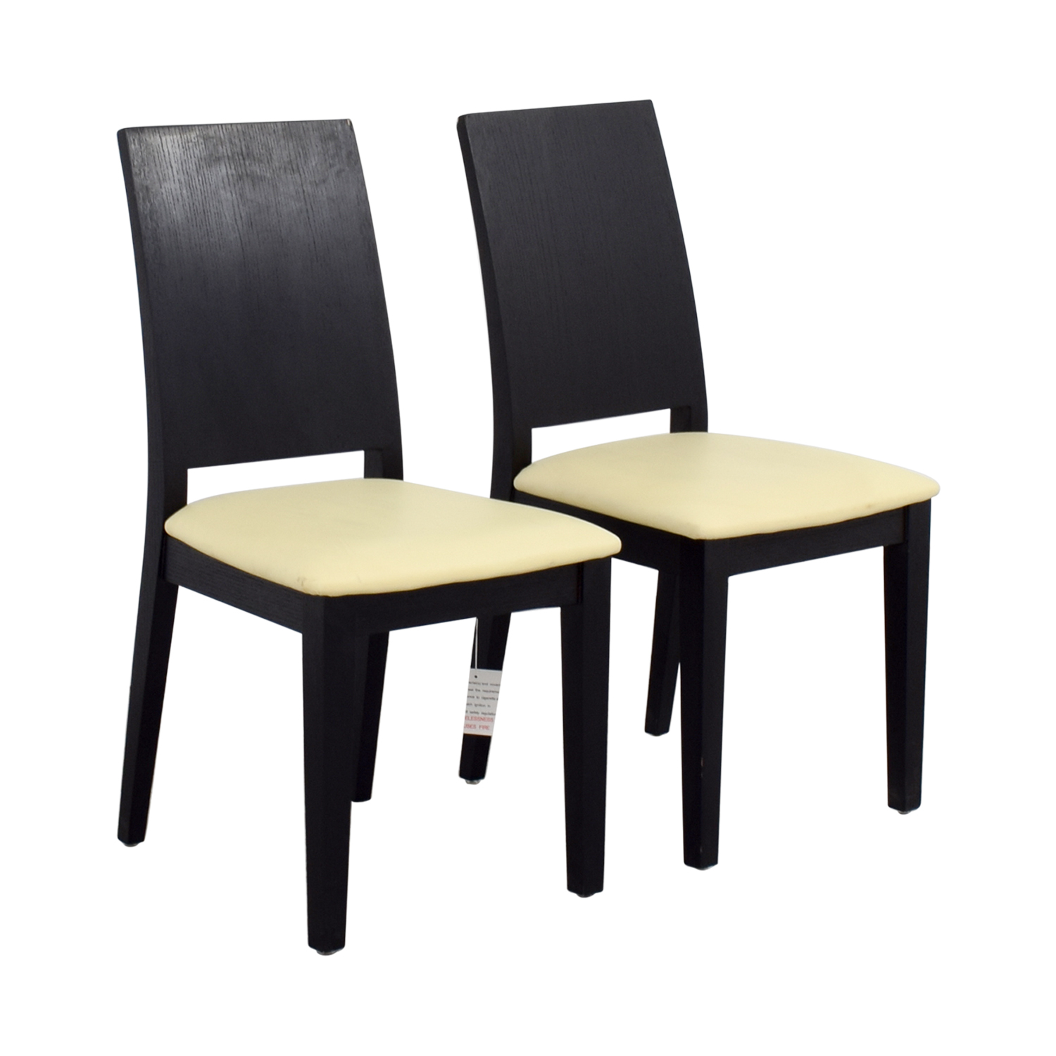 shop Black Frame with White Seat Dining Chairs Chairs