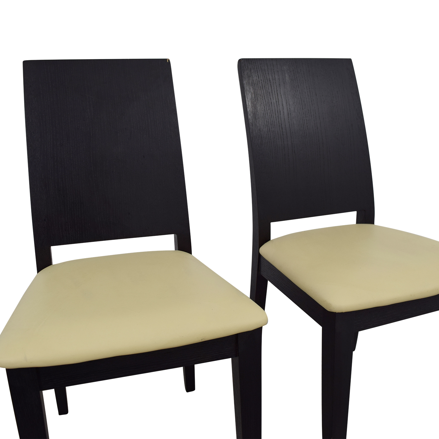 Black Frame with White Seat Dining Chairs Dining Chairs