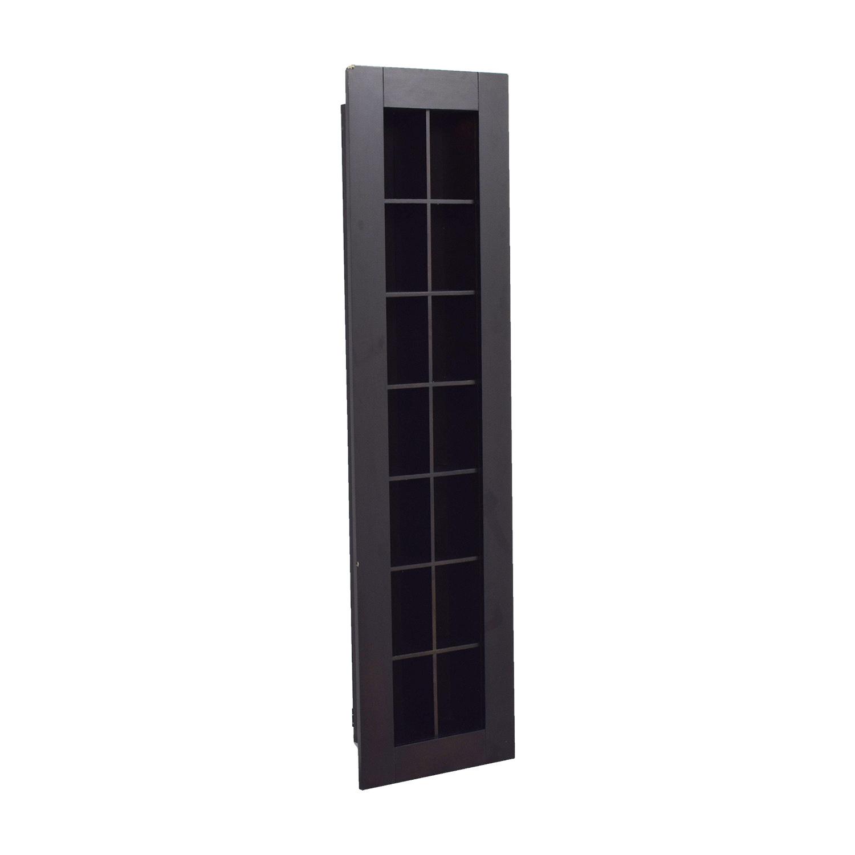 90% OFF - Wood In-Wall DVD Shelf / Storage