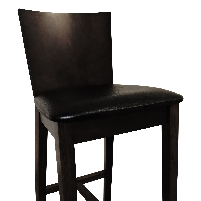 Newspec Newspec Black and Cherry Wood Bar Chair Chairs