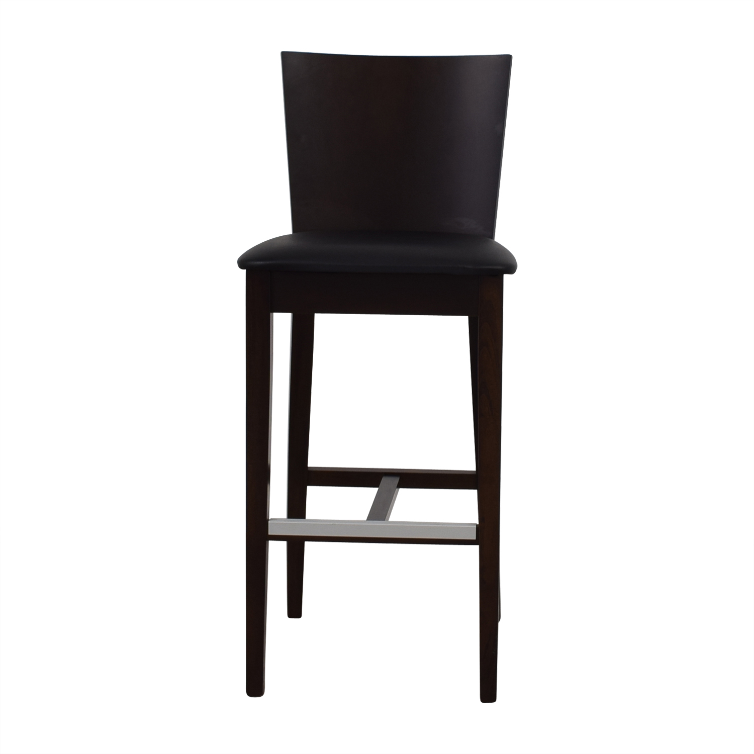 Newspec Newspec Black and Cherry Wood Bar Chair coupon