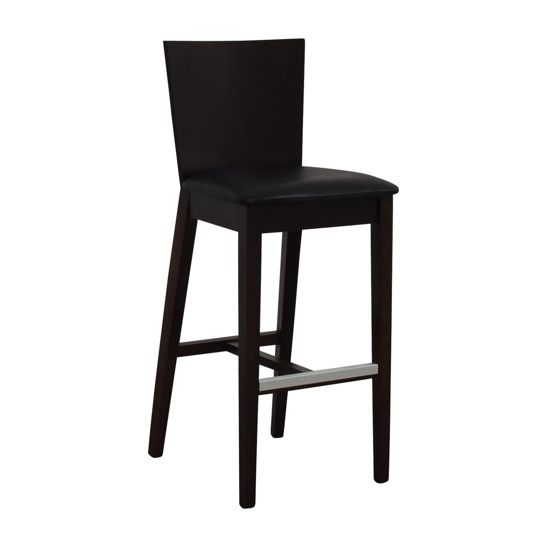 buy Newspec Black and Cherry Wood Bar Chair Newspec Chairs