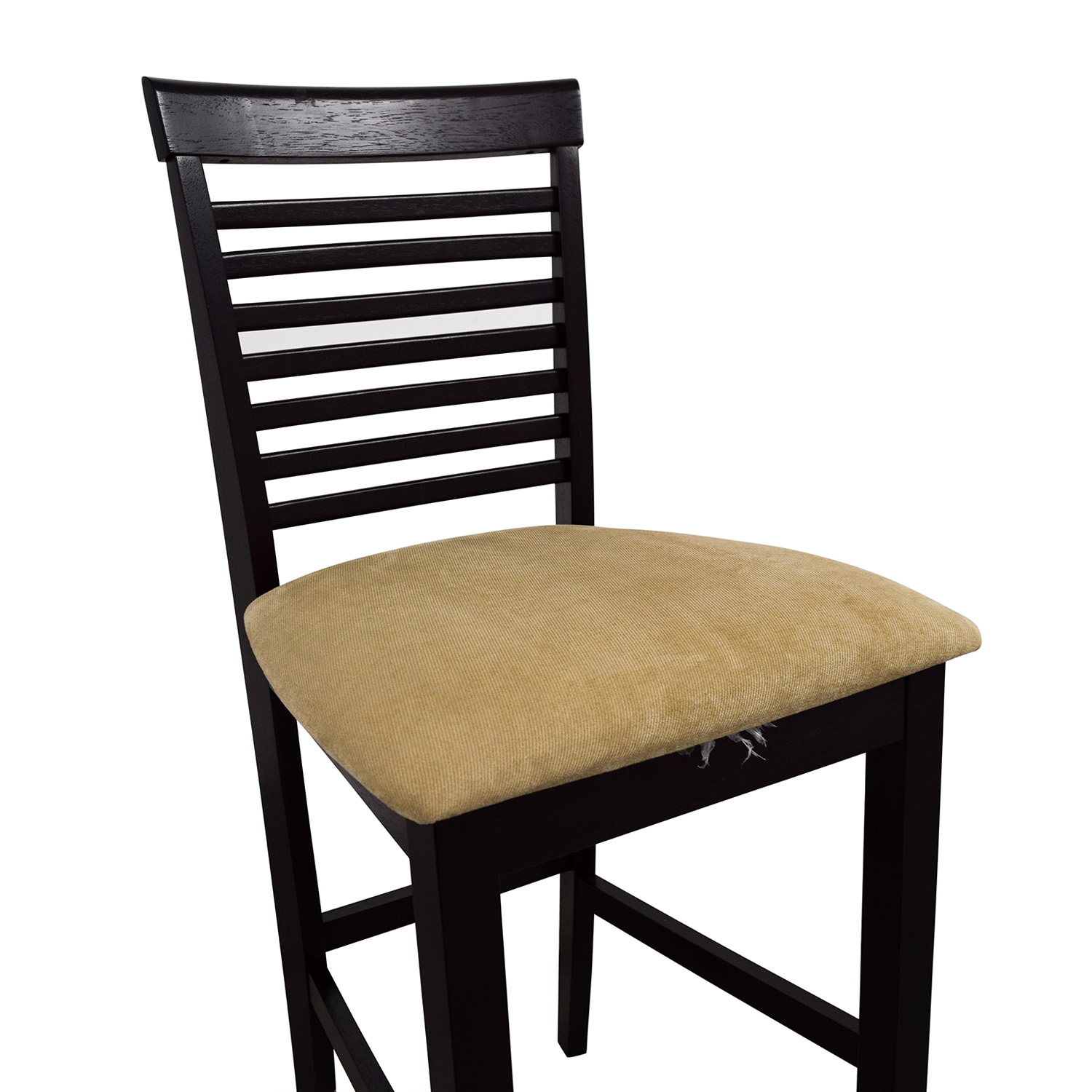 Off tan upholstered counter bar stool chairs