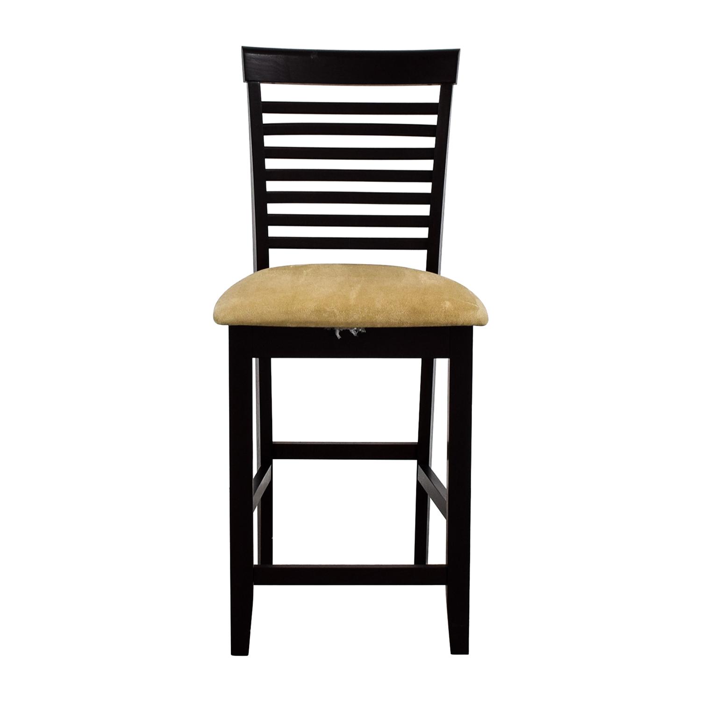 Tan Upholstered Counter Bar Stool