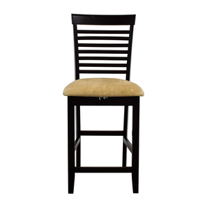 Tan Upholstered Counter Bar Stool