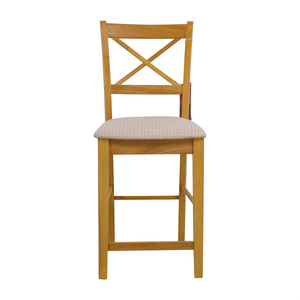 Coaster Fine Furniture Coaster Maple Counter Height Chair with Padded Seat nj