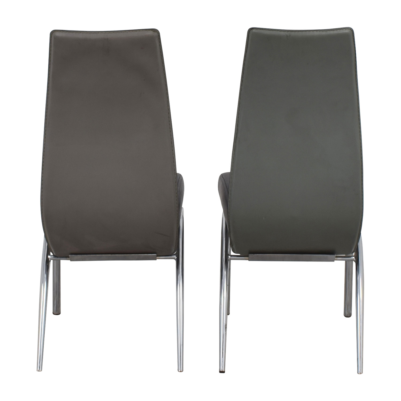 ESF ESF Black and Grey Modern Dining Chair Black/Silver/Dark Grey