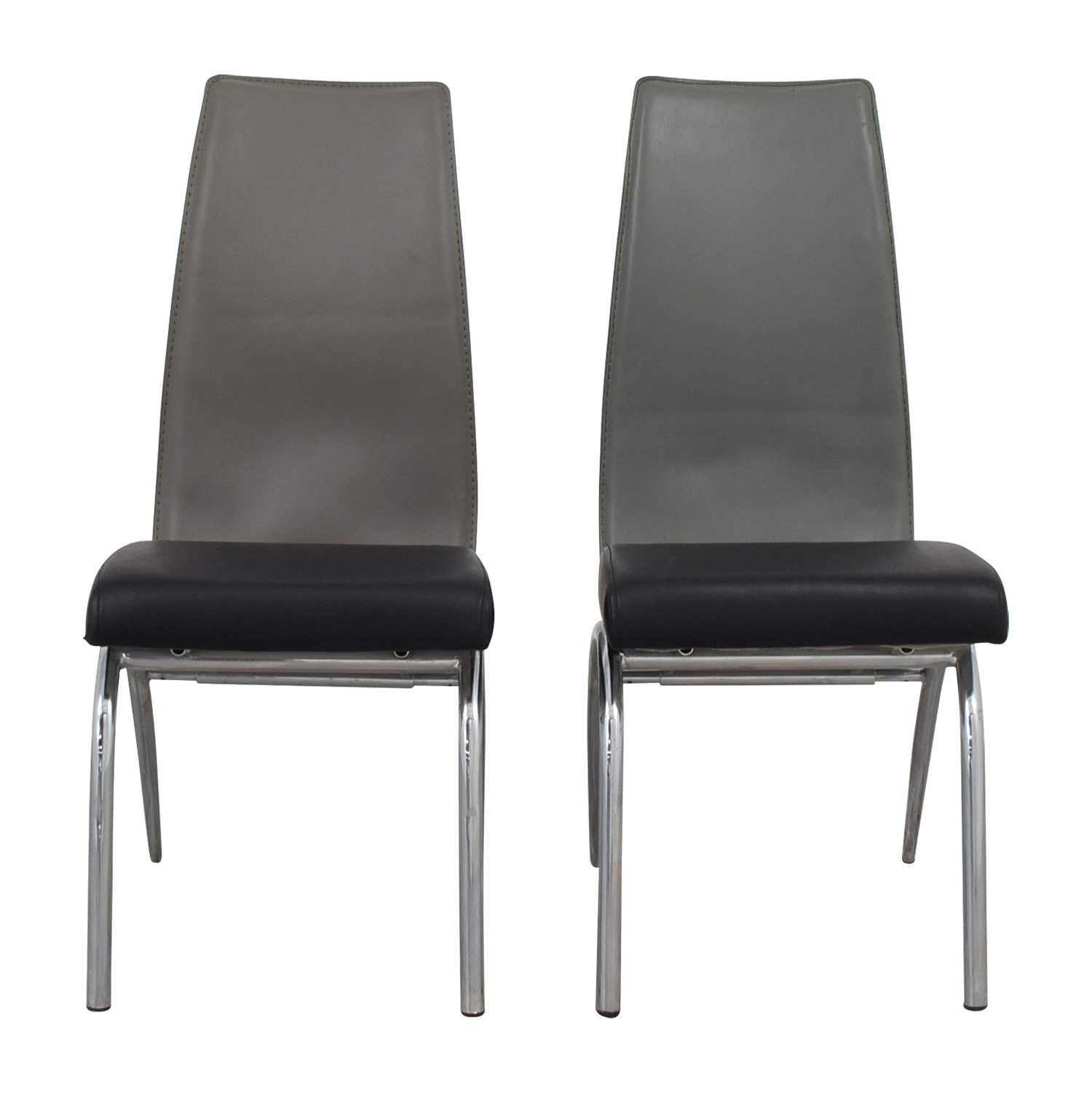 ESF ESF Black and Grey Modern Dining Chair Dining Chairs
