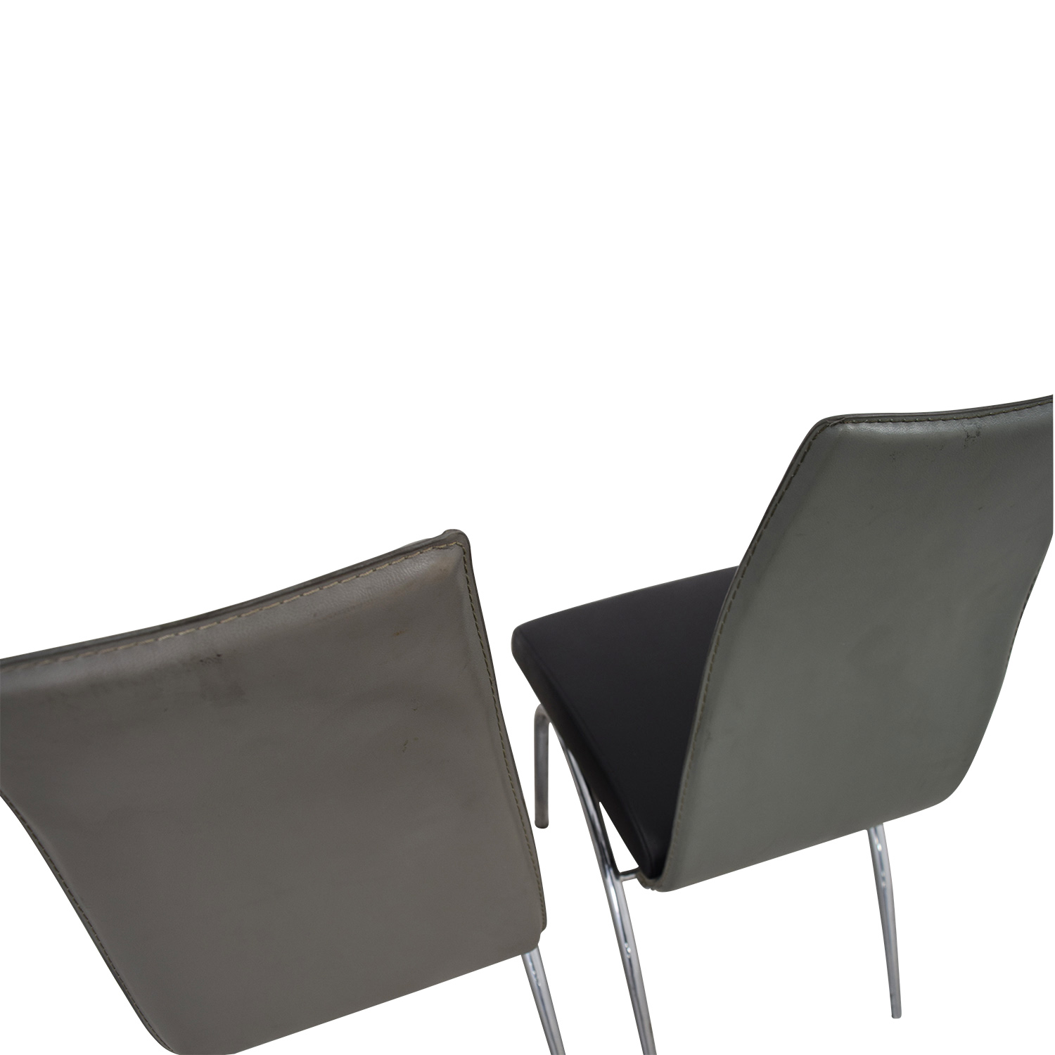 shop ESF Black and Grey Modern Dining Chair ESF Dining Chairs