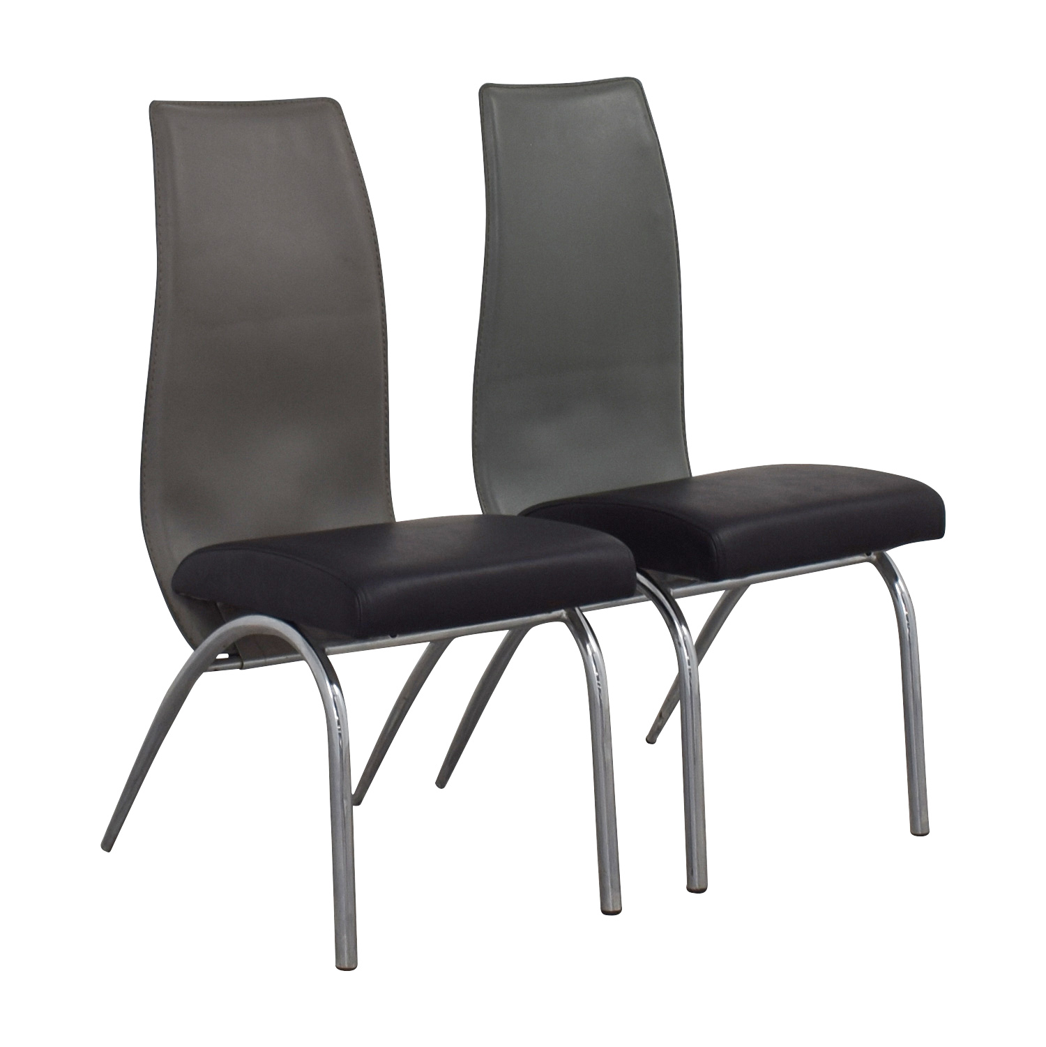 ESF ESF Black and Grey Modern Dining Chair dimensions