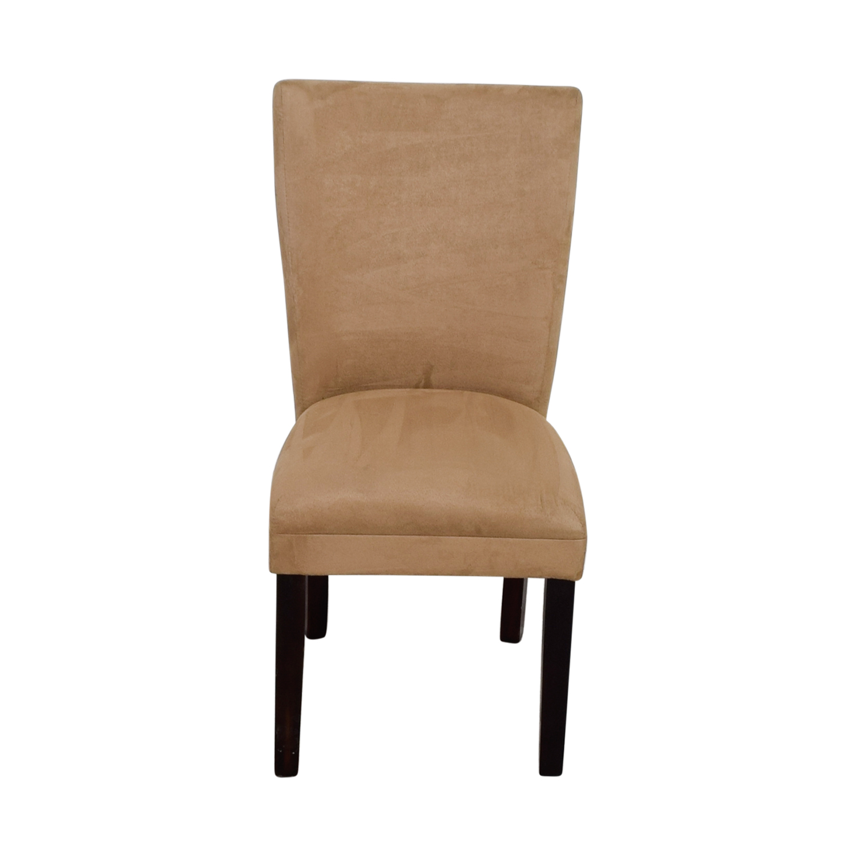 Coaster Furniture Parsons Taupe Microfiber Fabric Chair nj