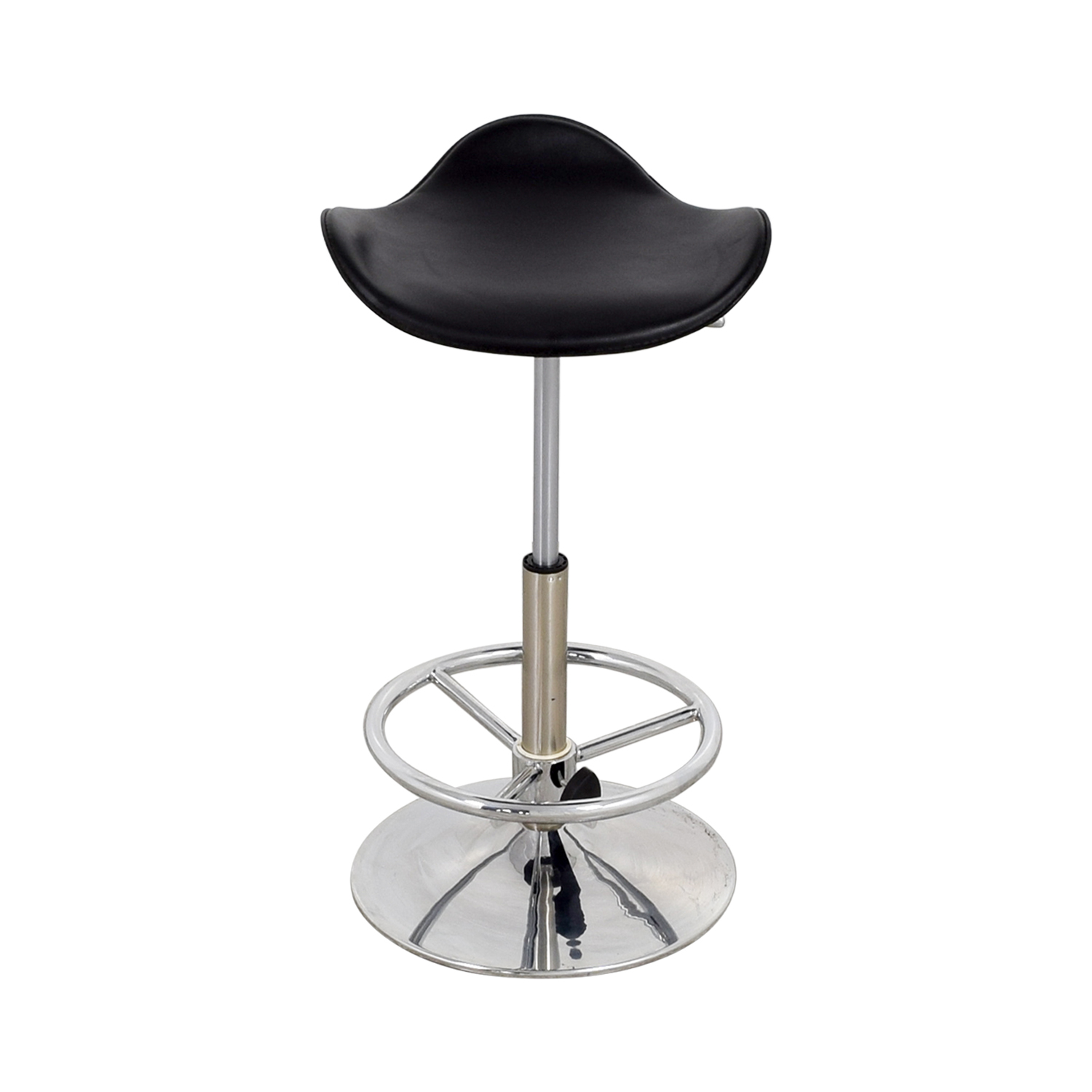Modern Black & Chrome Barstool Black/Chrome