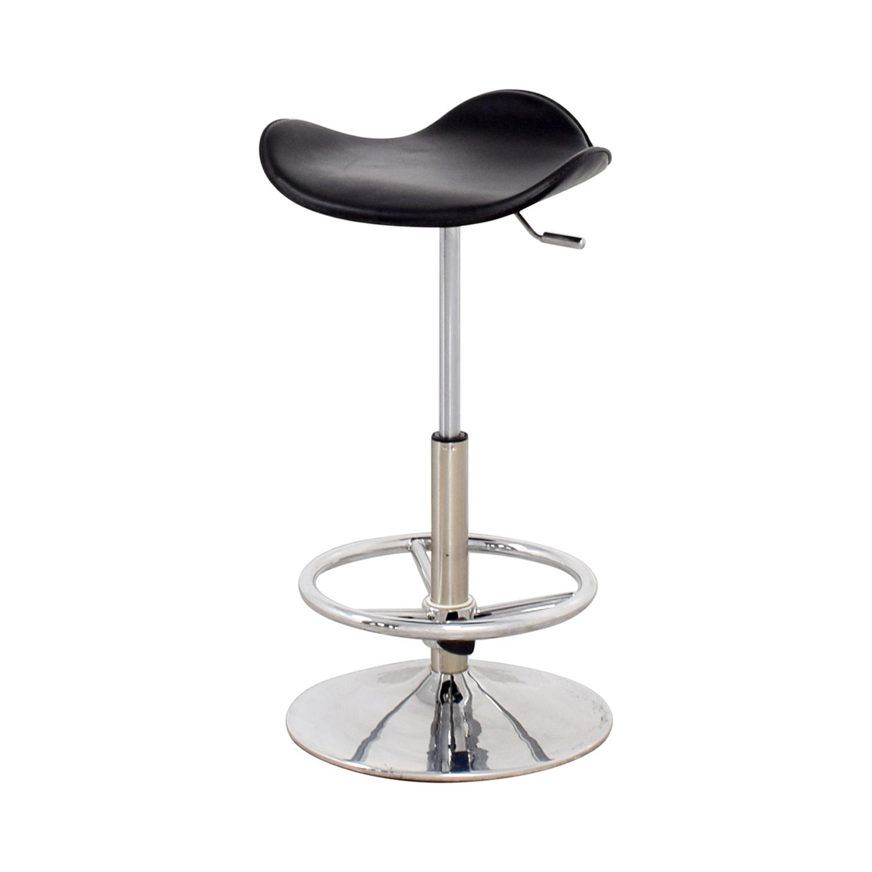 buy Modern Black & Chrome Barstool Chairs