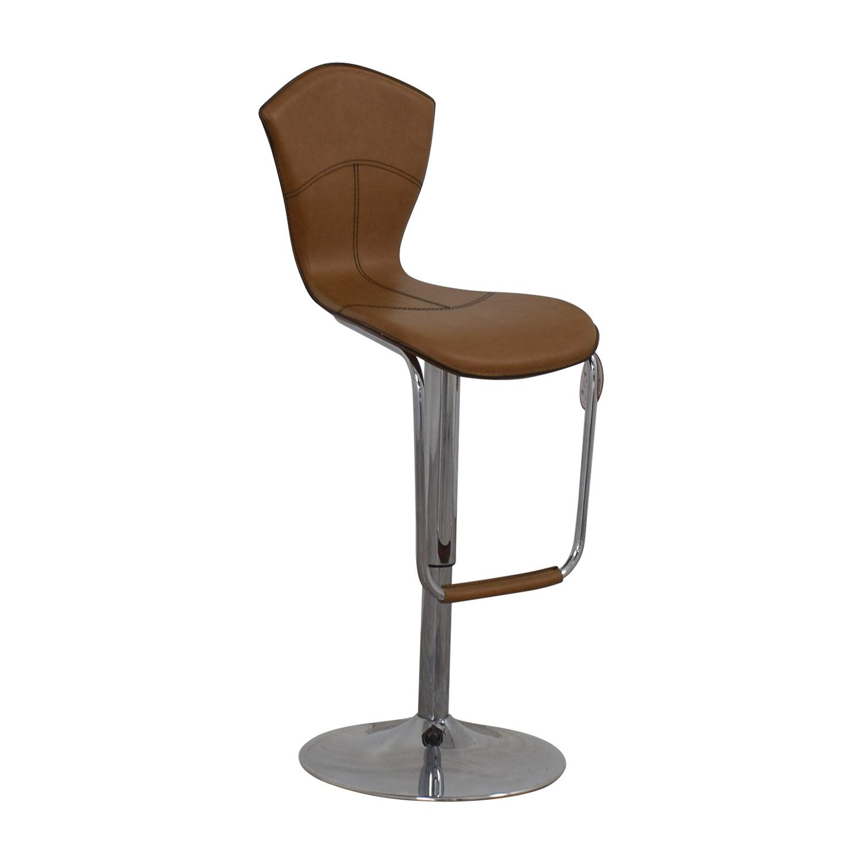 90 Off Light Brown Swivel Barstool Chairs
