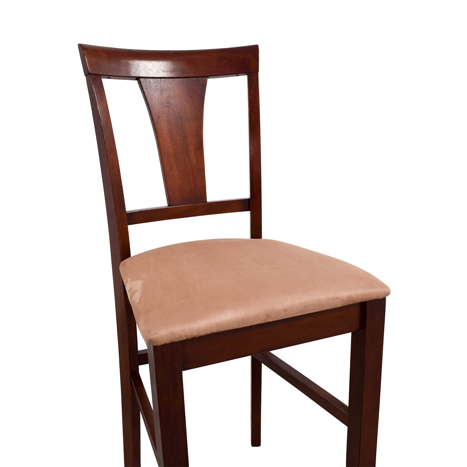 Light Cherry Wood Counter Height Chair with Padded Seat used