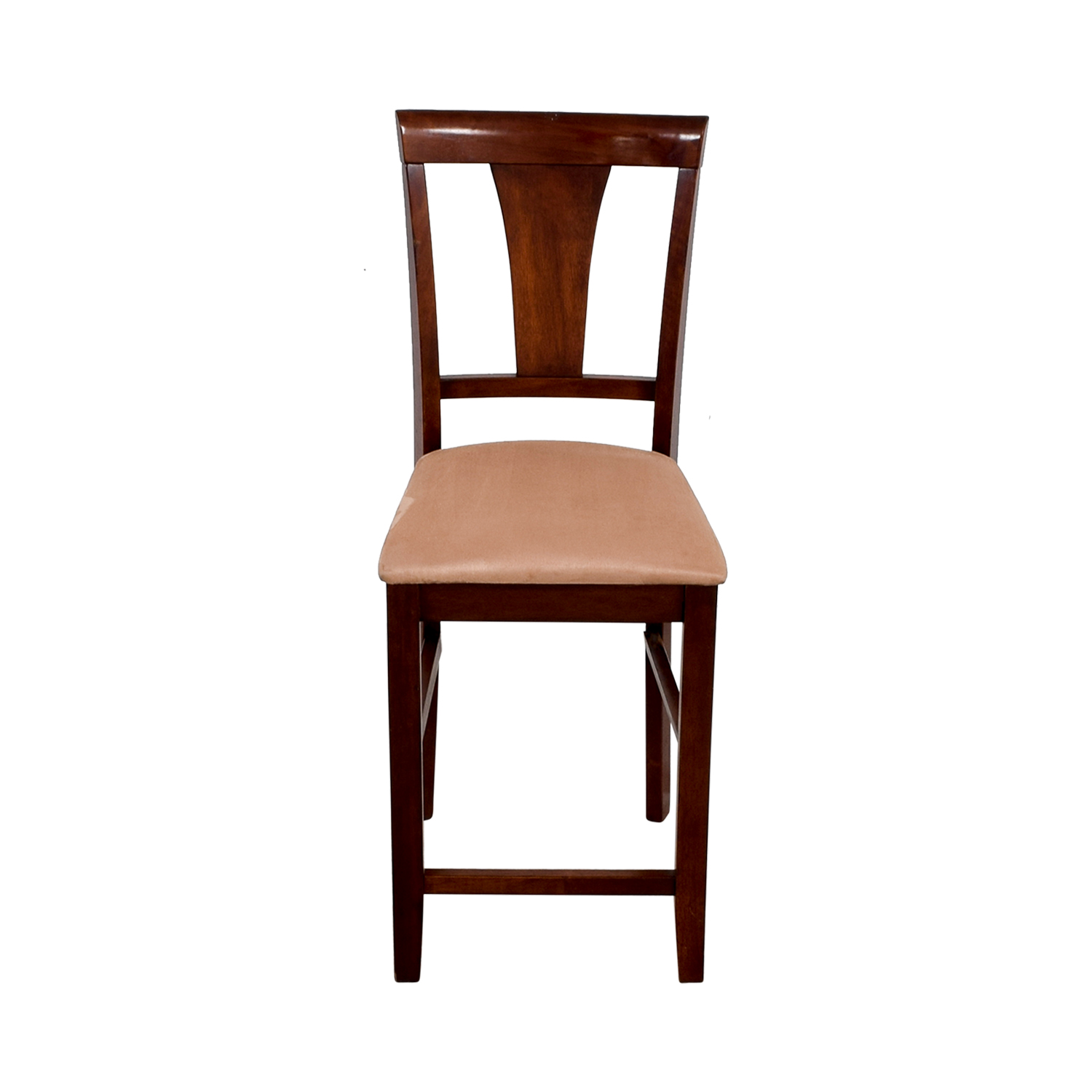 buy Light Cherry Wood Counter Height Chair with Padded Seat Chairs