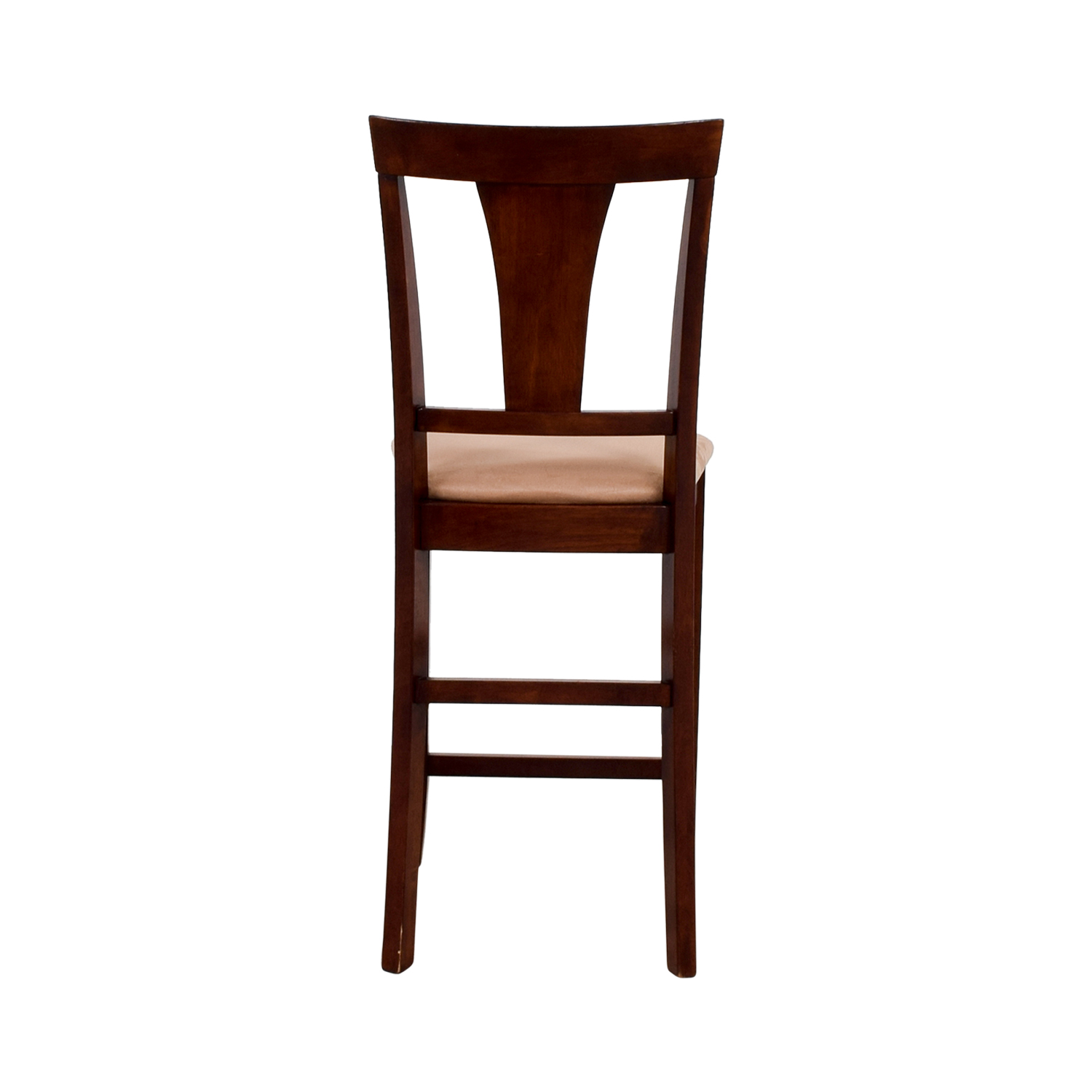 Light Cherry Wood Counter Height Chair with Padded Seat / Chairs