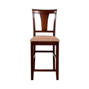 Light Cherry Wood Counter Height Chair with Padded Seat price