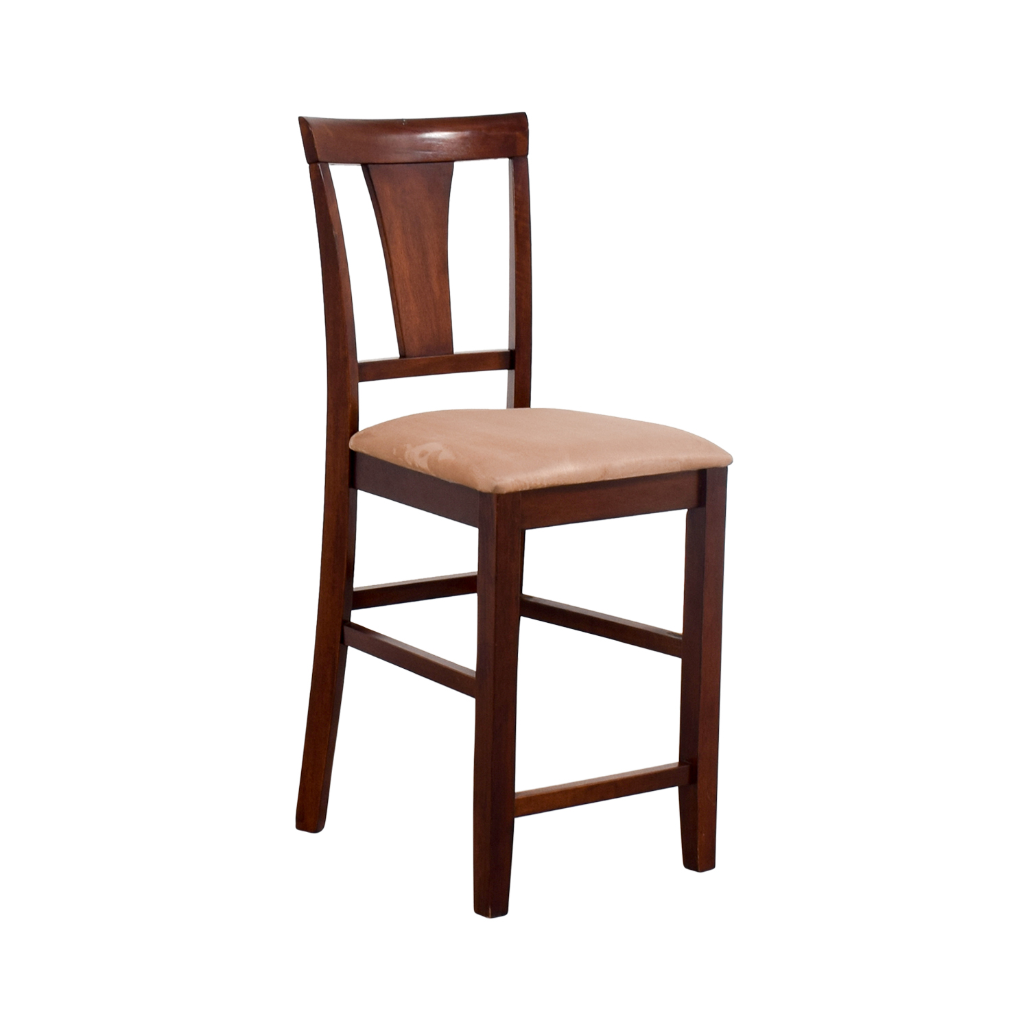 Light Cherry Wood Counter Height Chair with Padded Seat discount