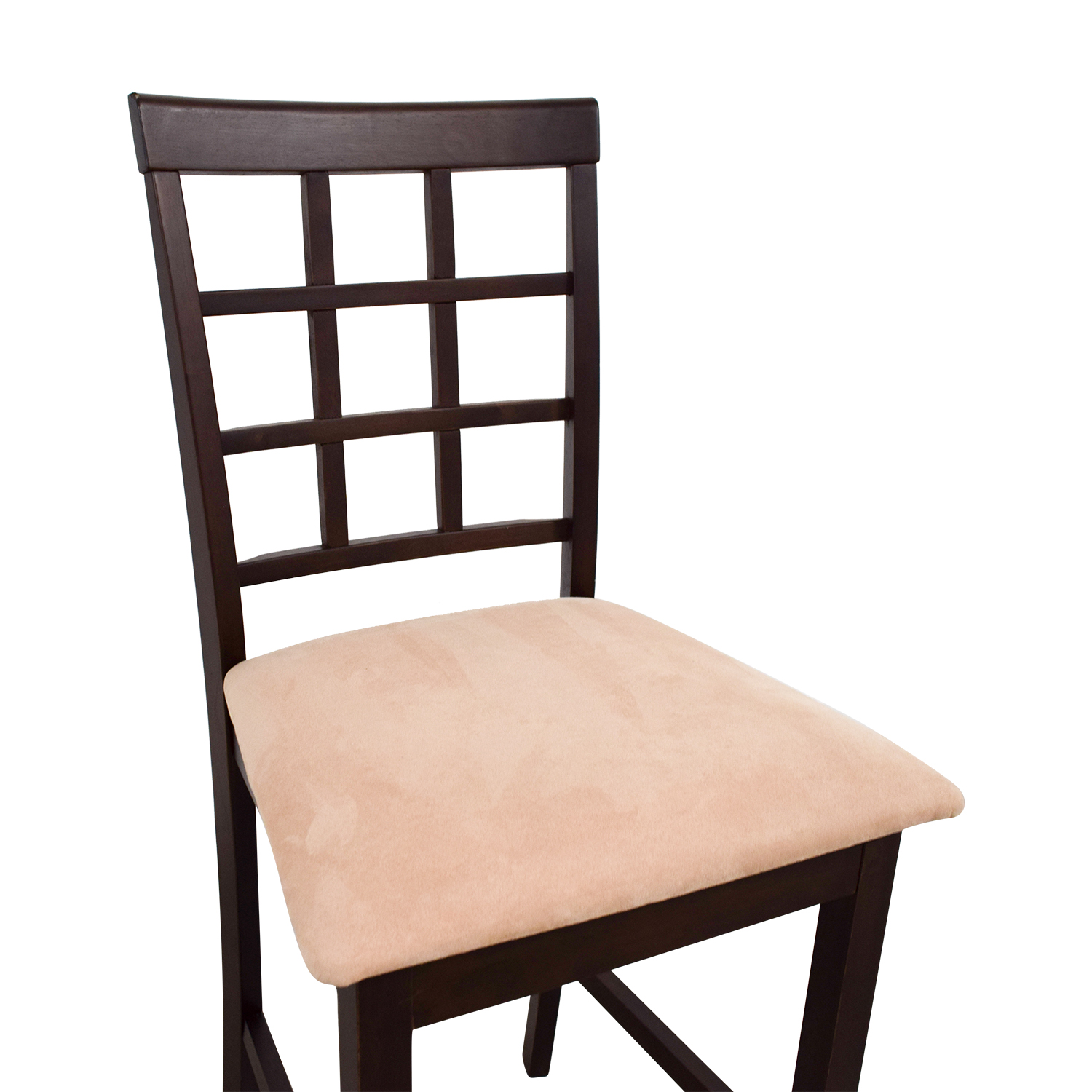 Counter Height Chair in Cappuccino and Tan Padded Seat / Chairs