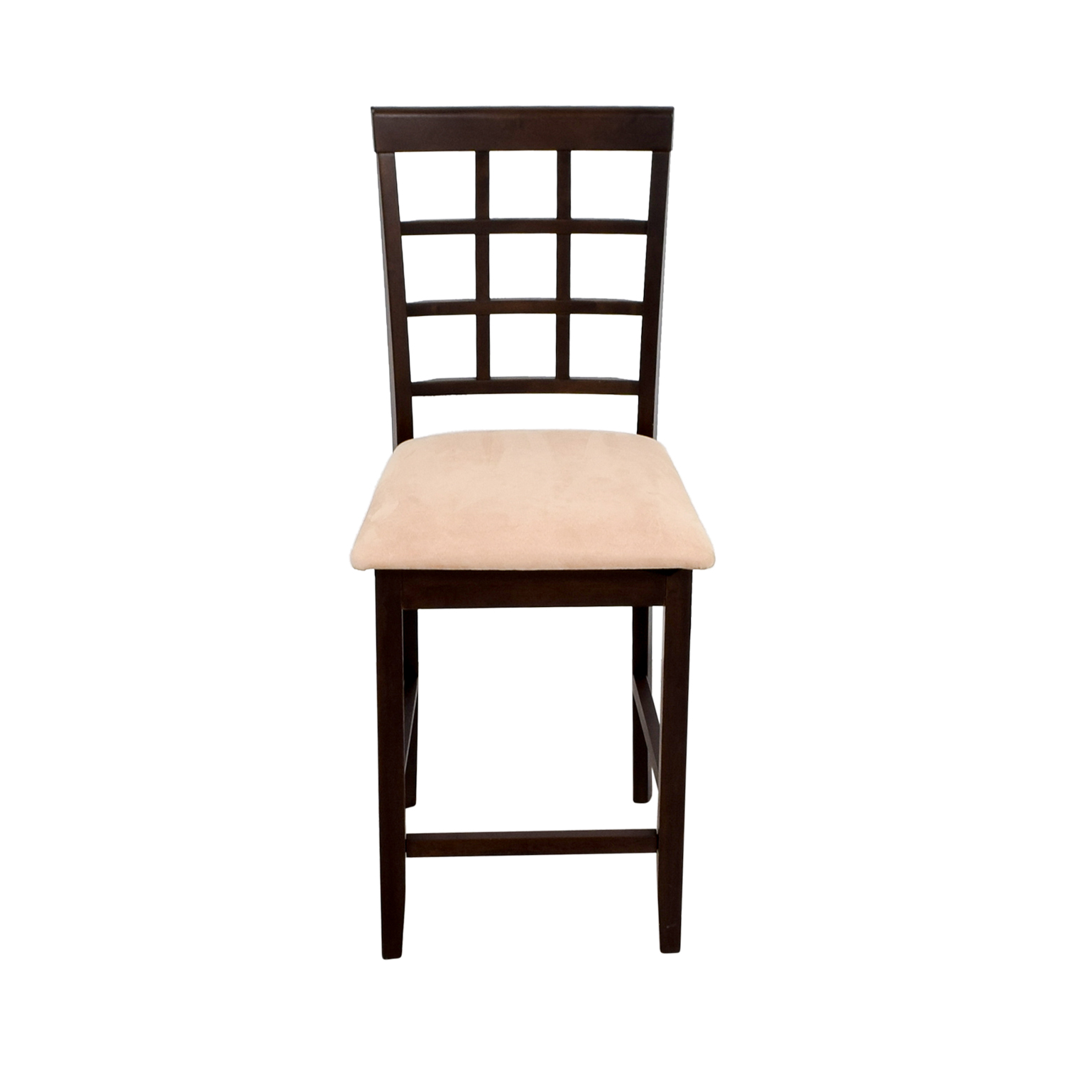 buy Counter Height Chair in Cappuccino and Tan Padded Seat Dining Chairs