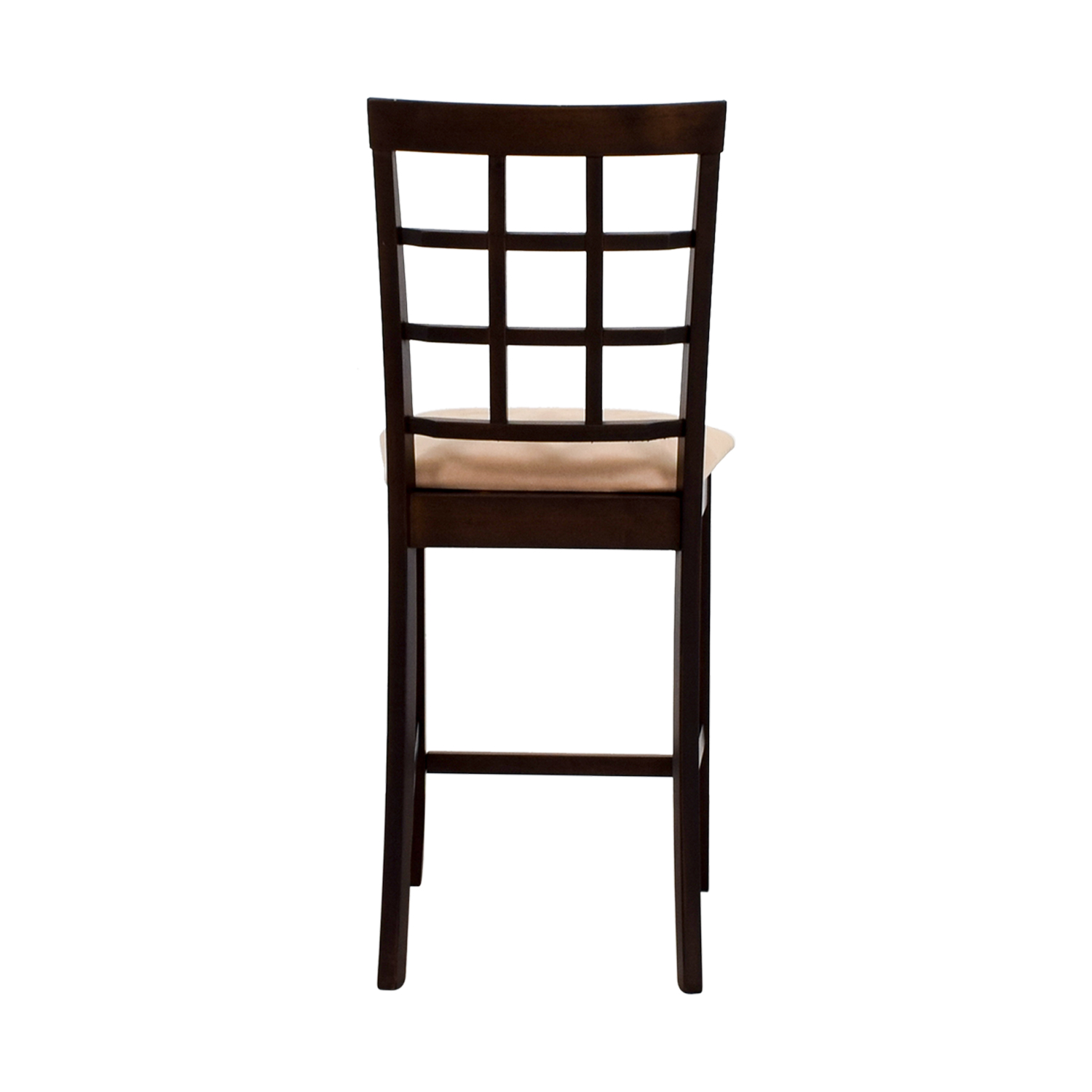 Counter Height Chair in Cappuccino and Tan Padded Seat second hand