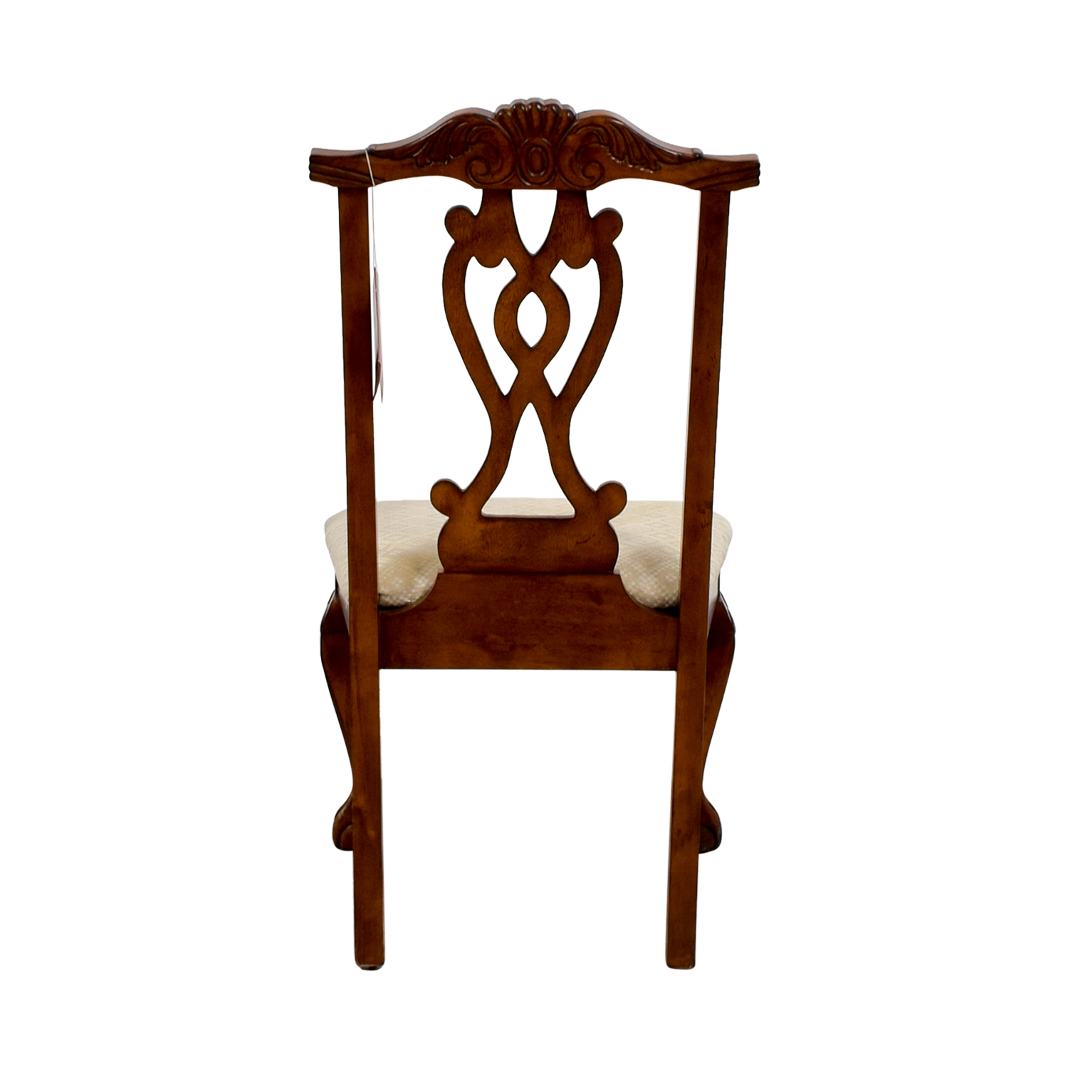 buy Poundex Furniture Poundex Furniture Traditional Wood and Off White Chair online