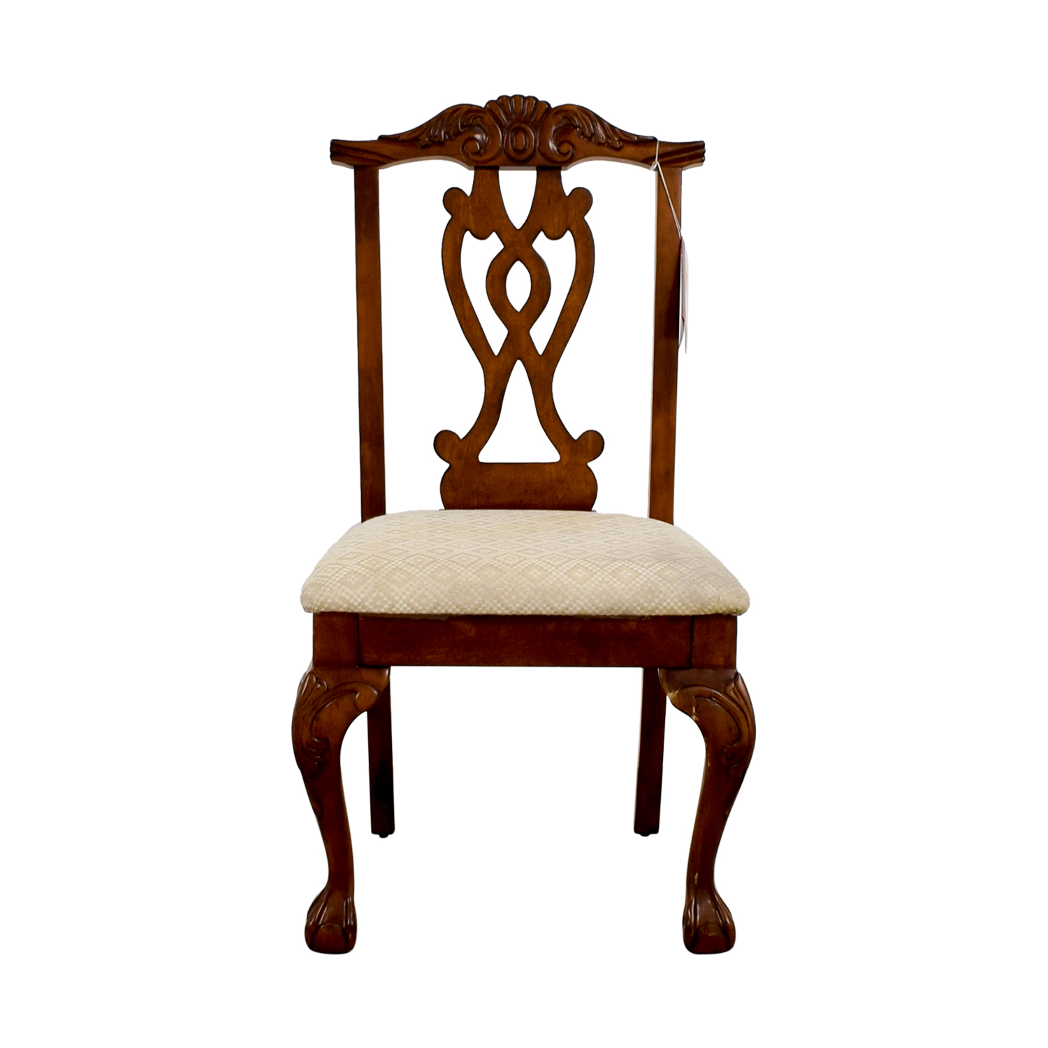 buy Poundex Furniture Traditional Wood and Off White Chair Poundex Furniture Chairs