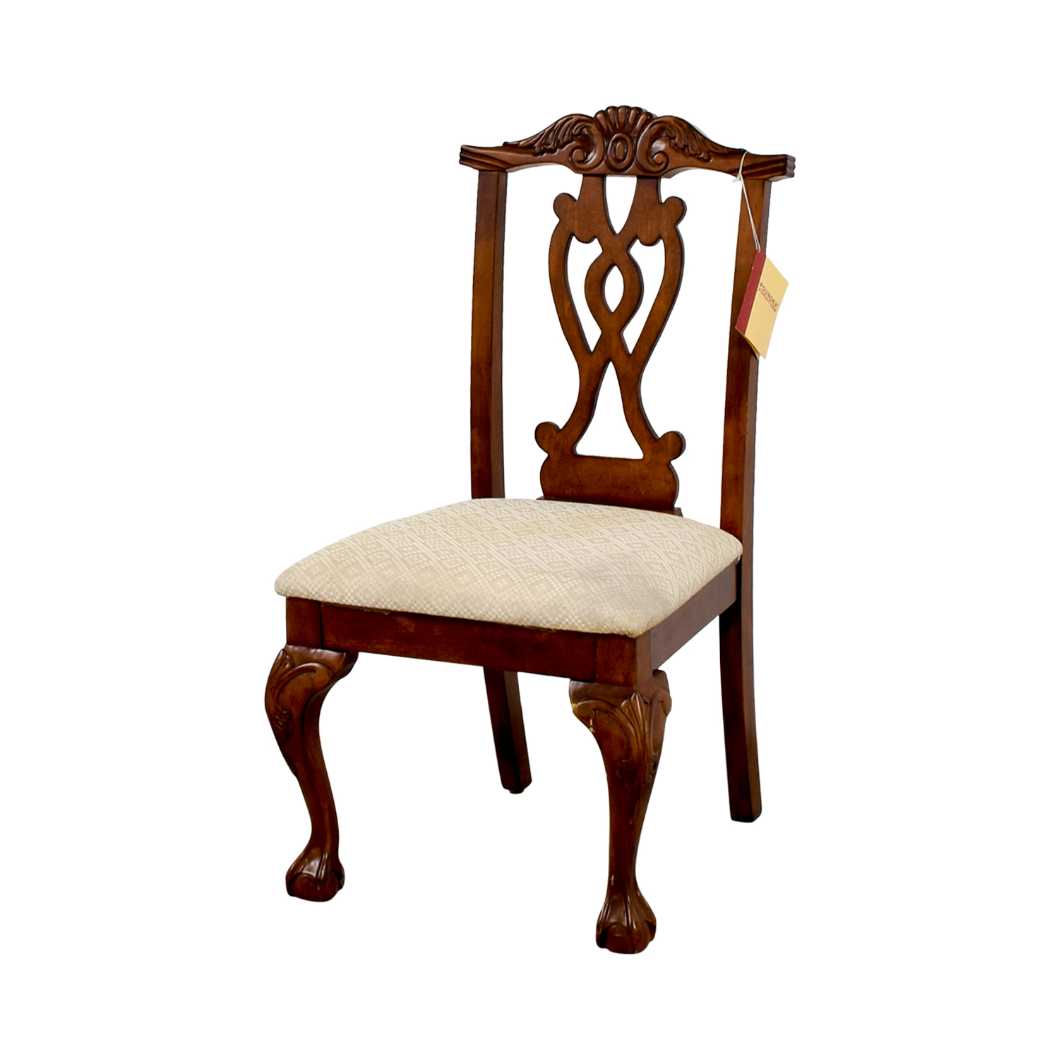 buy Poundex Furniture Traditional Wood and Off White Chair Poundex Furniture Dining Chairs