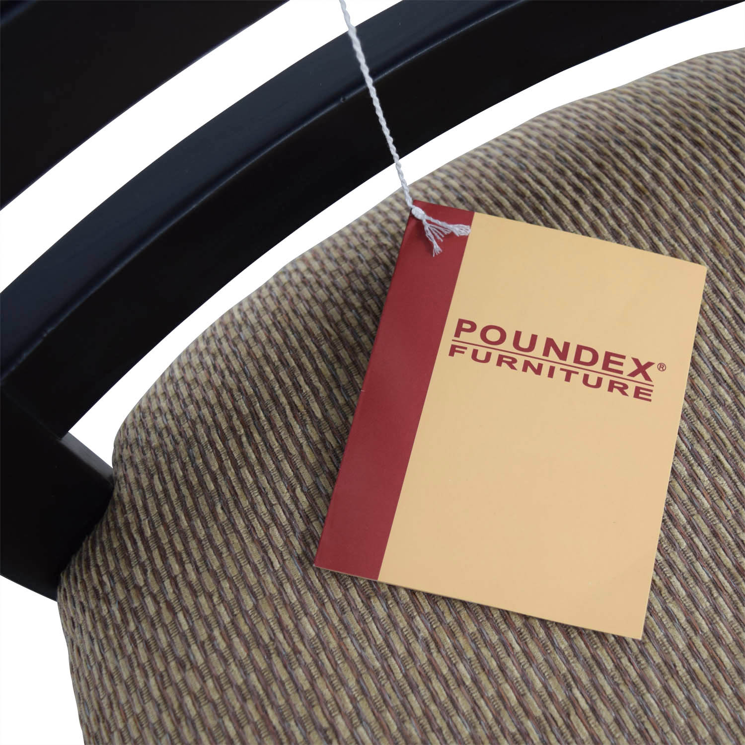 shop Poundex Furniture Poundex Furniture Black Chair with Padded Seat online