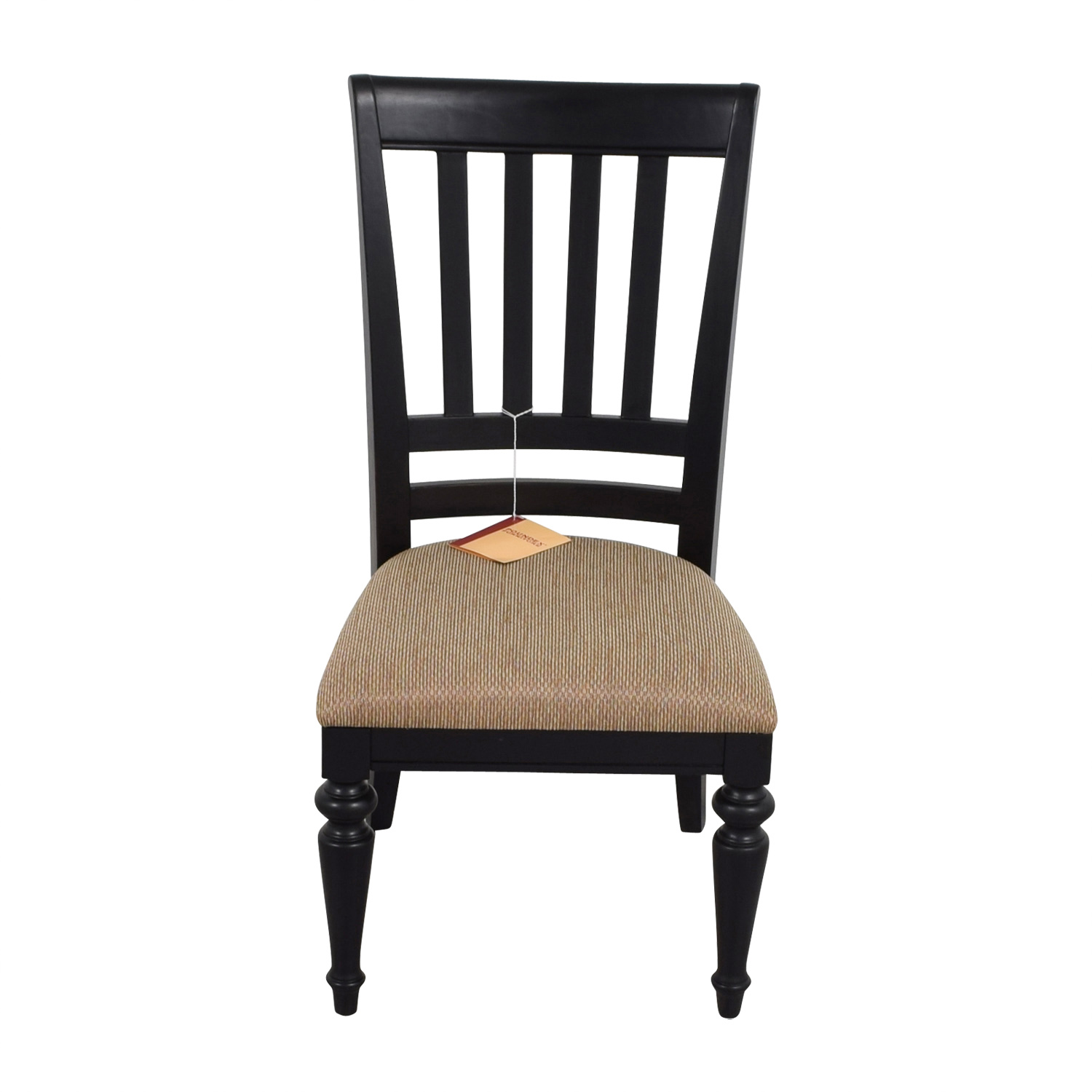 Poundex Furniture Black Chair with Padded Seat / Chairs
