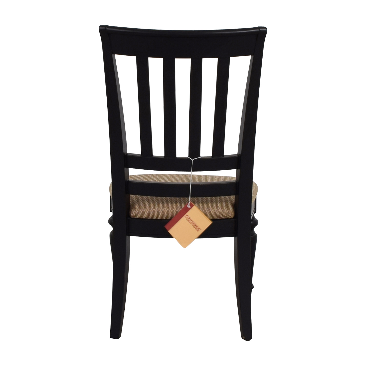 Poundex Furniture Black Chair with Padded Seat Poundex Furniture