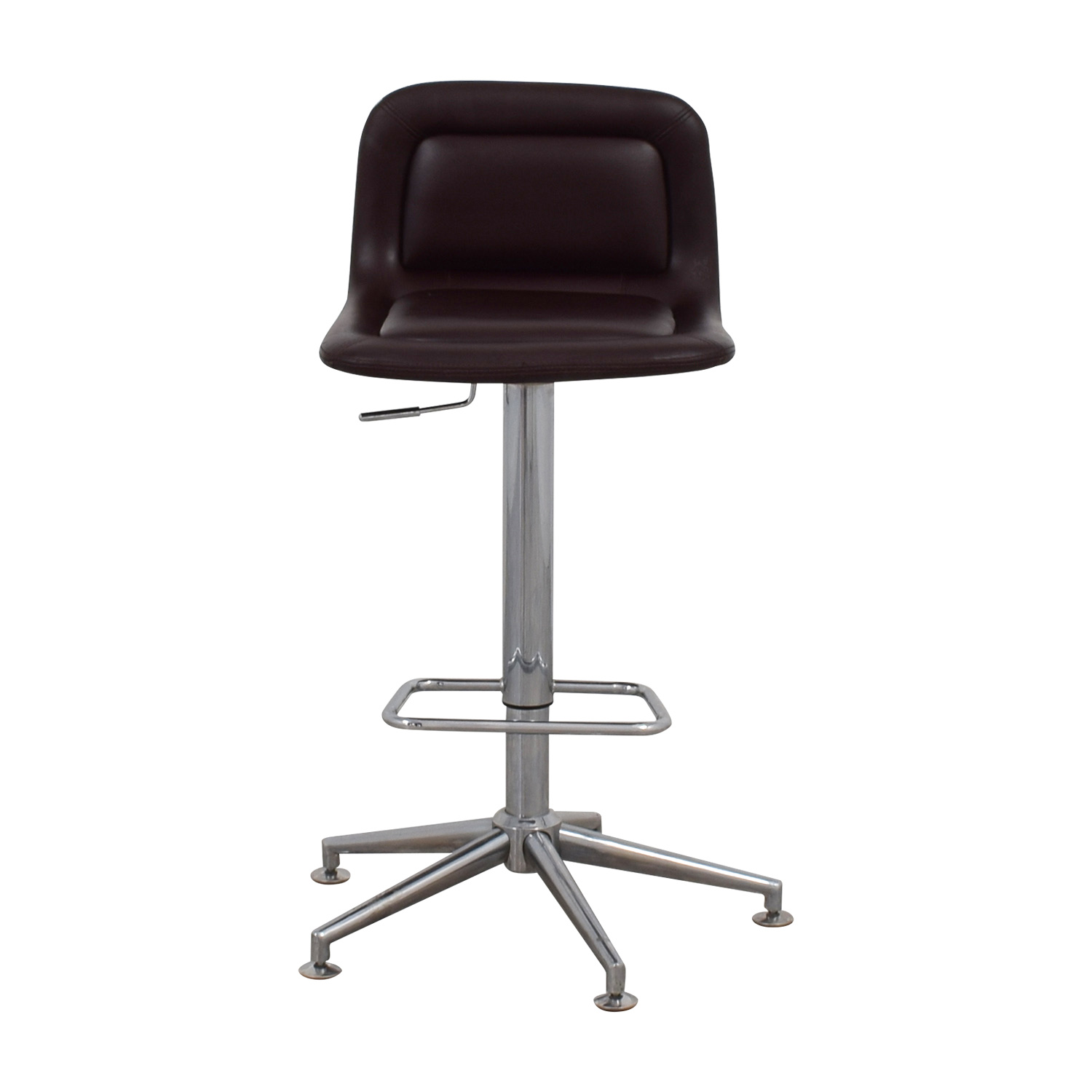 Brown Leatherette Swivel Barstool Chairs