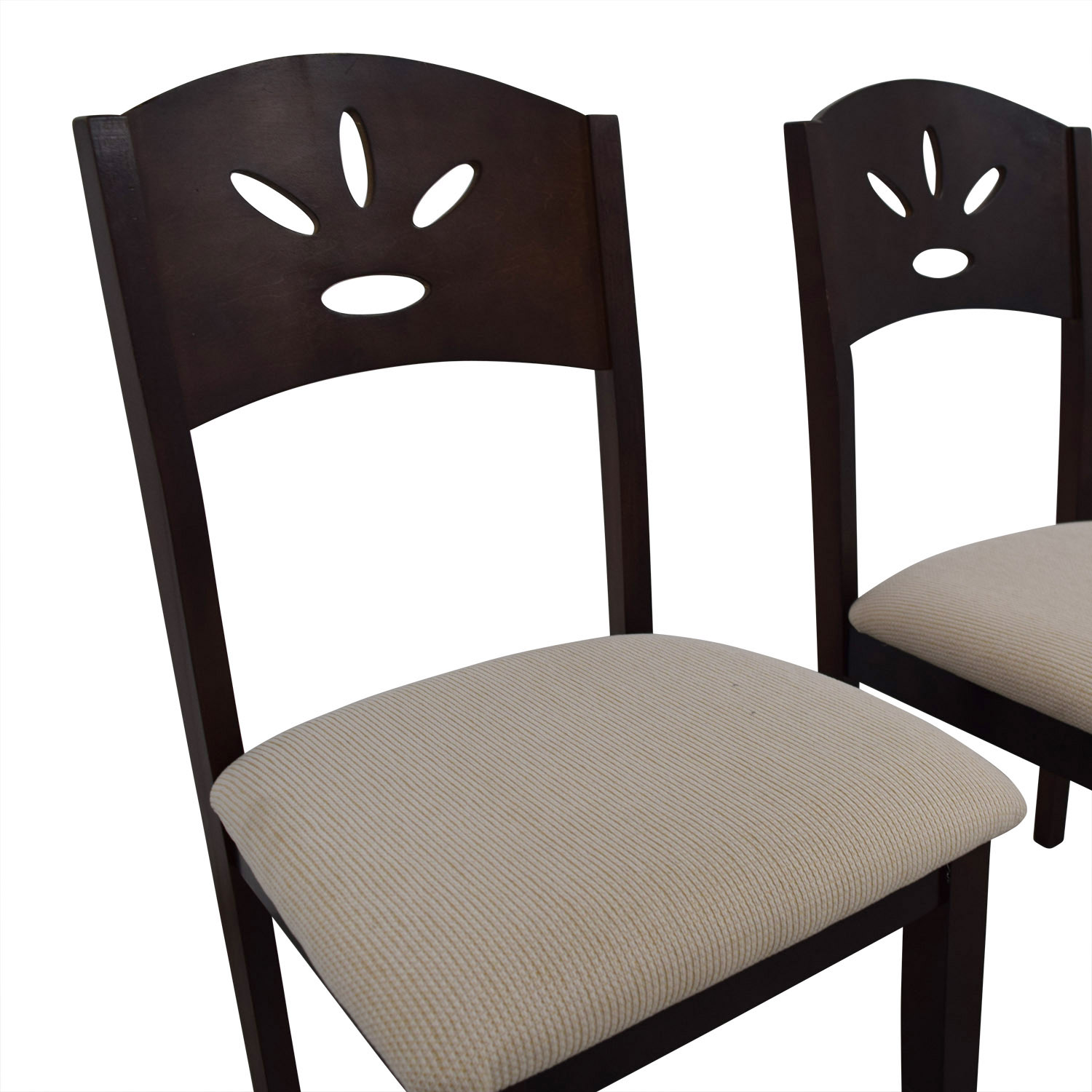 buy Off White and Wood Dining Chairs Dining Chairs